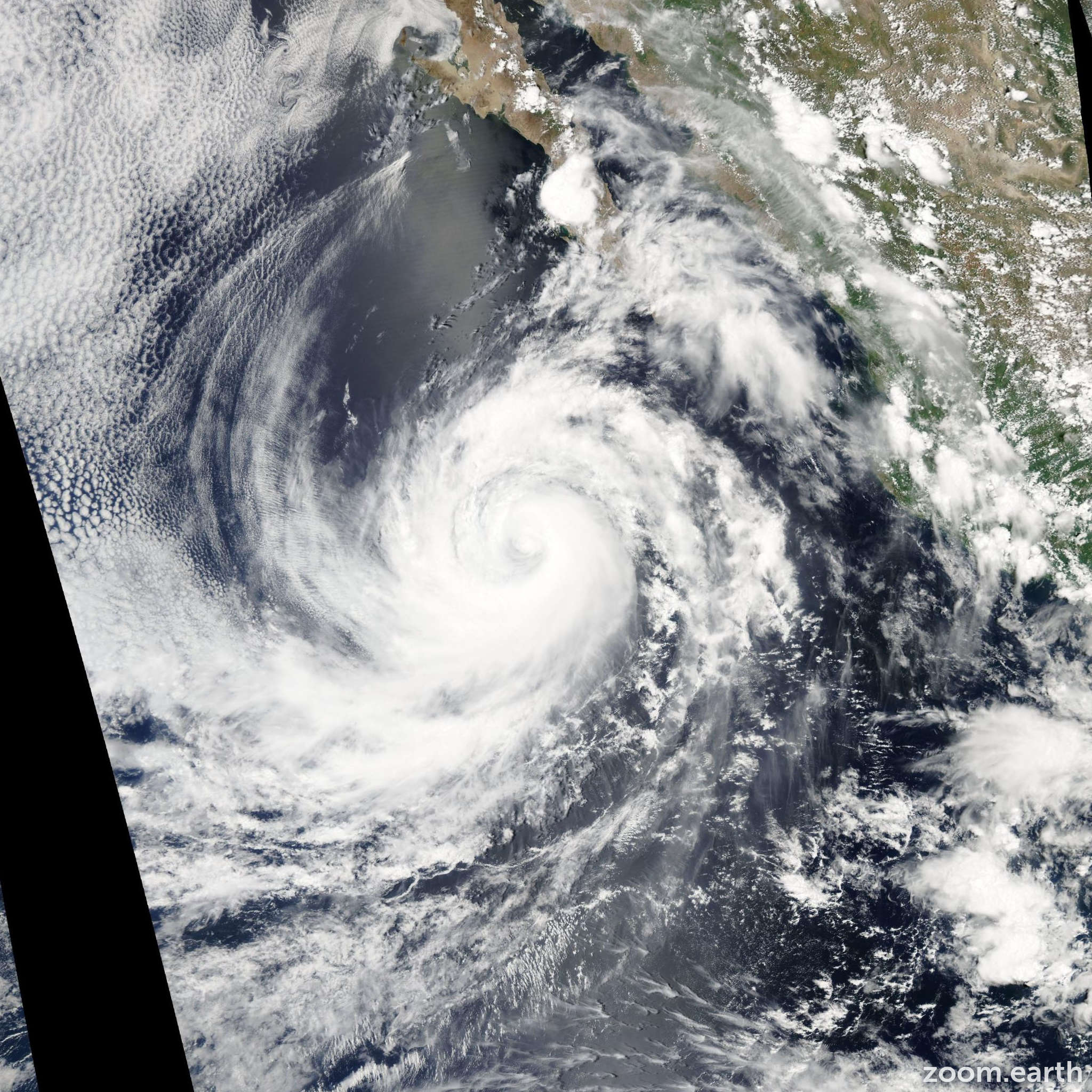Satellite image of Hurricane Hilary 2005