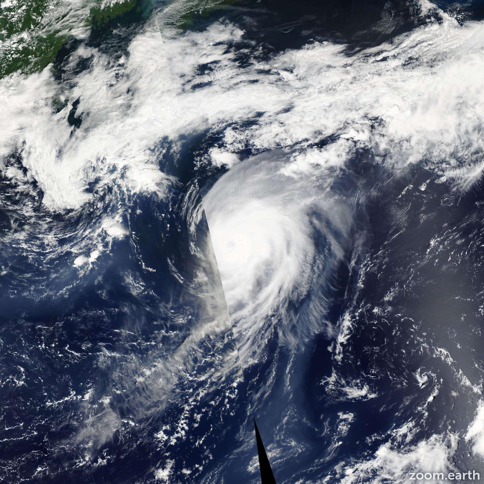 Satellite image of Hurricane Irene 2005
