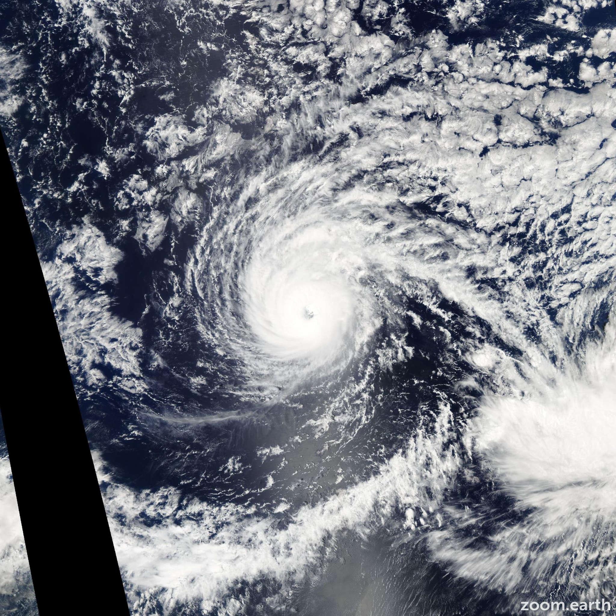 Satellite image of Hurricane Jova 2005