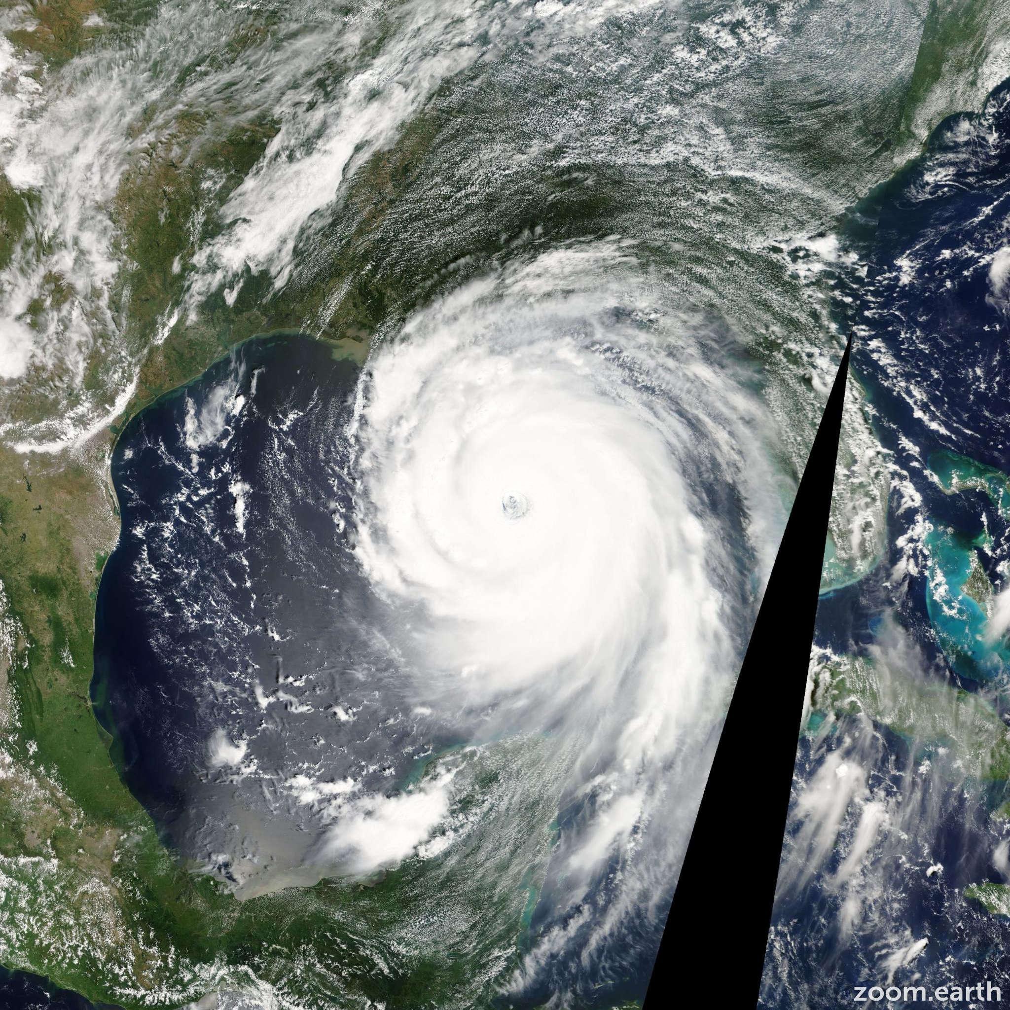 Satellite image of Hurricane Katrina 2005