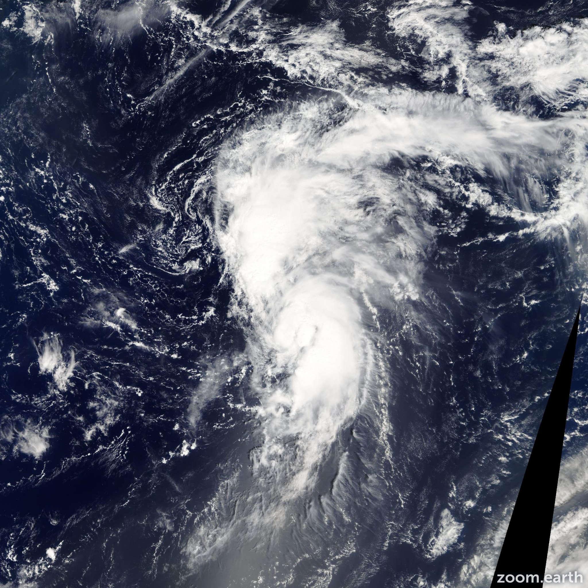 Satellite image of Storm Lee 2005