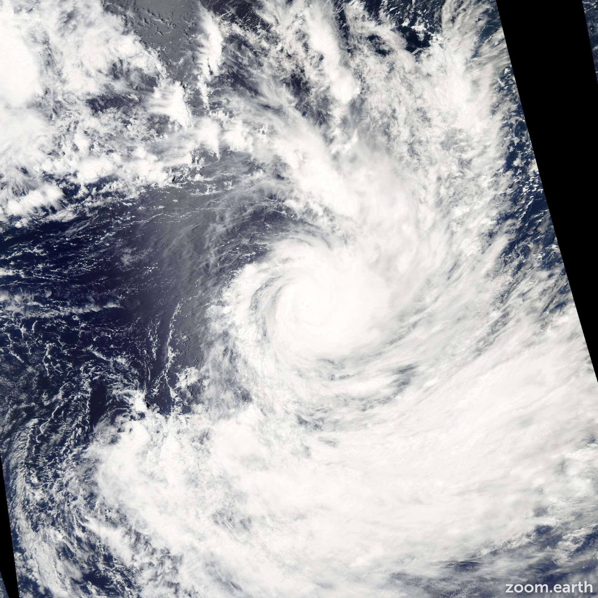 Satellite image of Cyclone Nancy 2005
