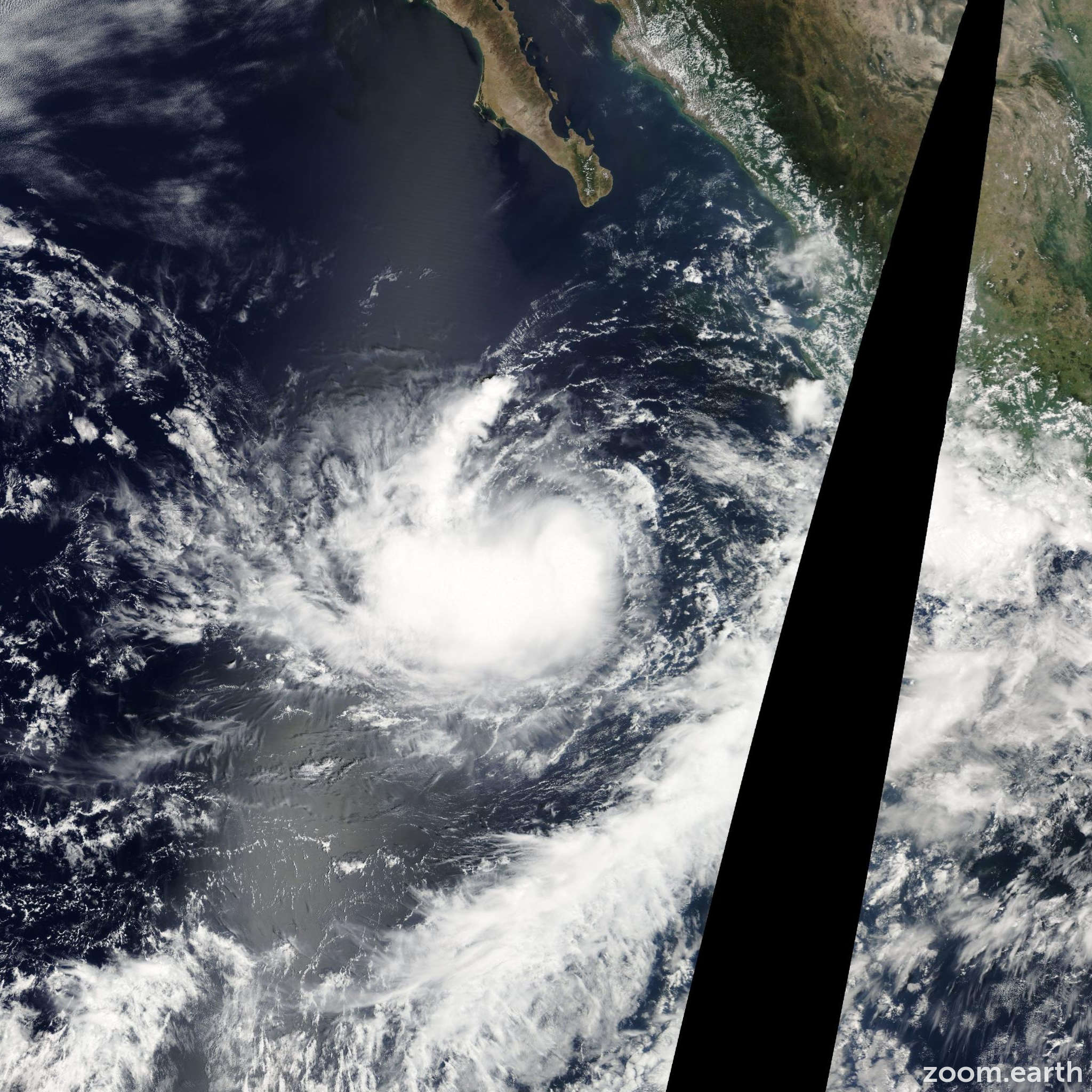 Satellite image of Storm Norma 2005