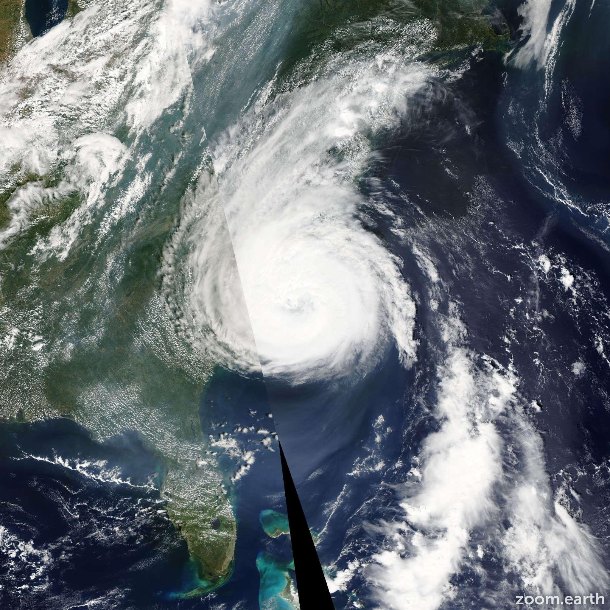 Satellite image of Hurricane Ophelia 2005