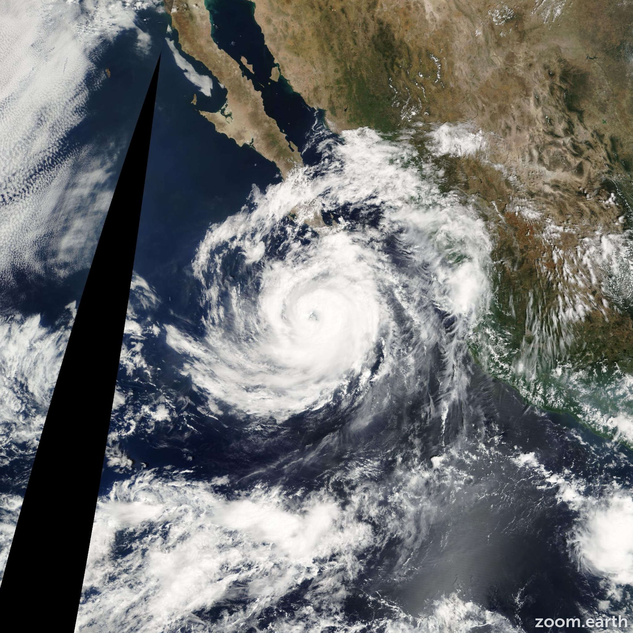 Satellite image of Hurricane Otis 2005