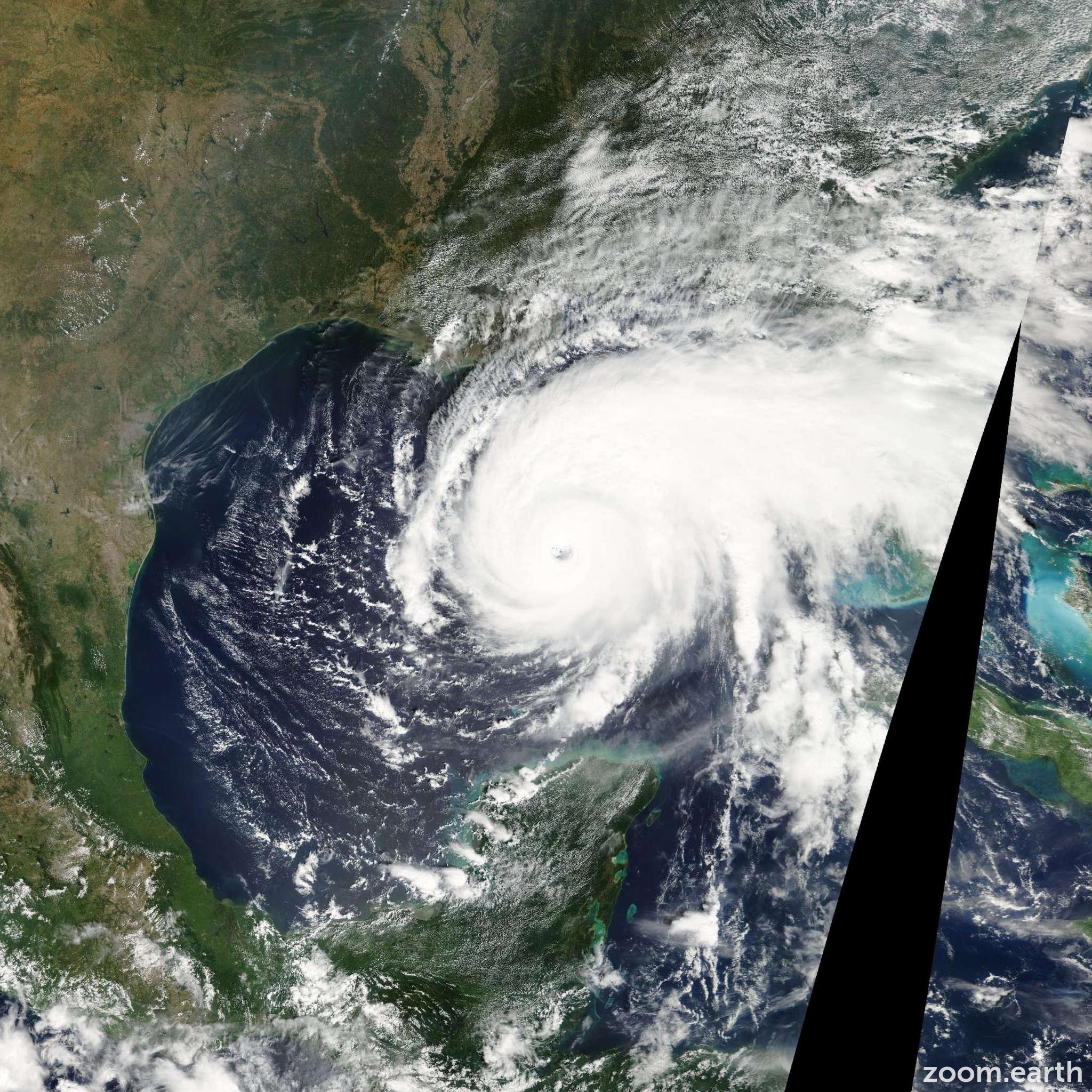 Satellite image of Hurricane Rita 2005