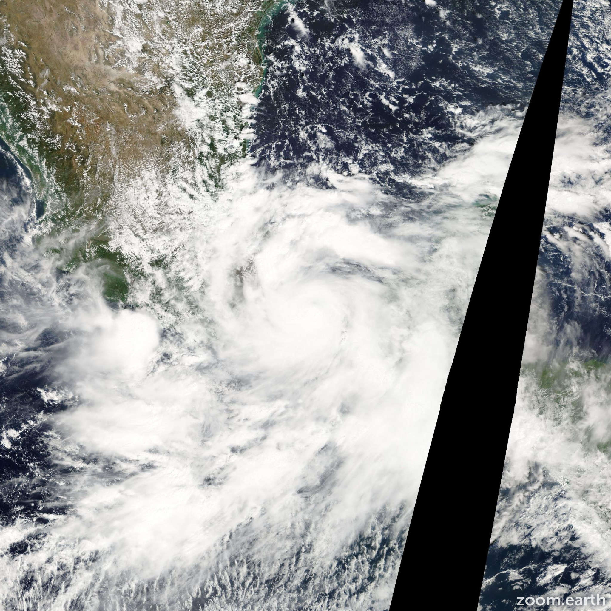 Satellite image of Hurricane Stan 2005