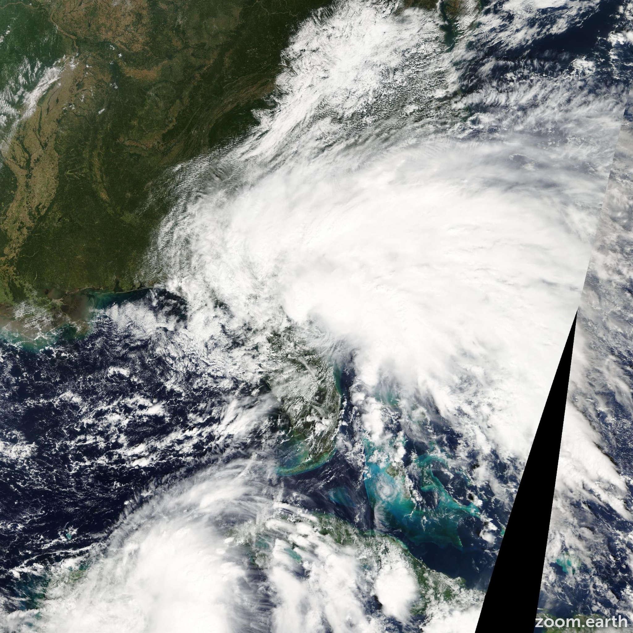 Satellite image of Storm Tammy 2005