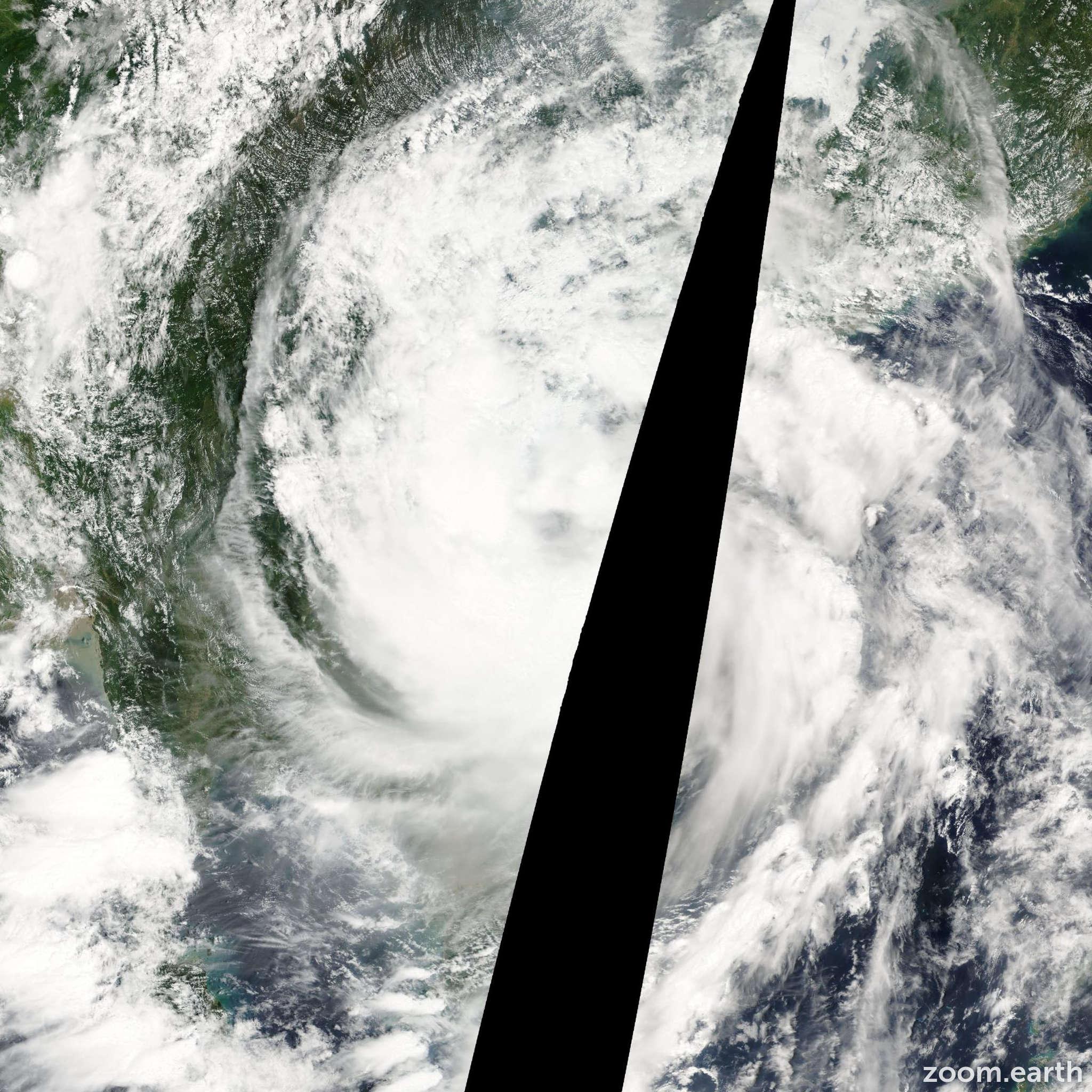 Satellite image of Storm Vicente 2005