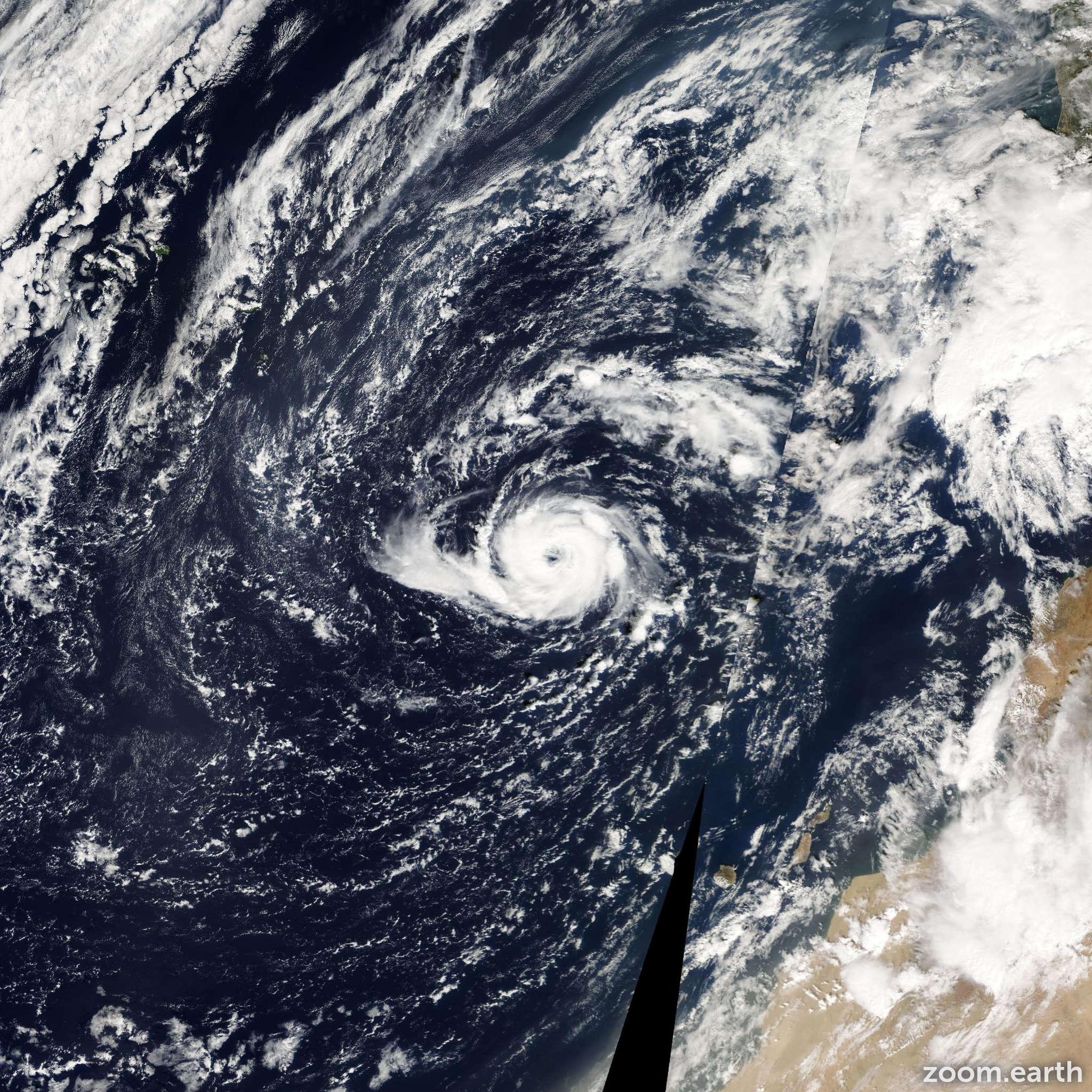 Satellite image of Hurricane Vince 2005