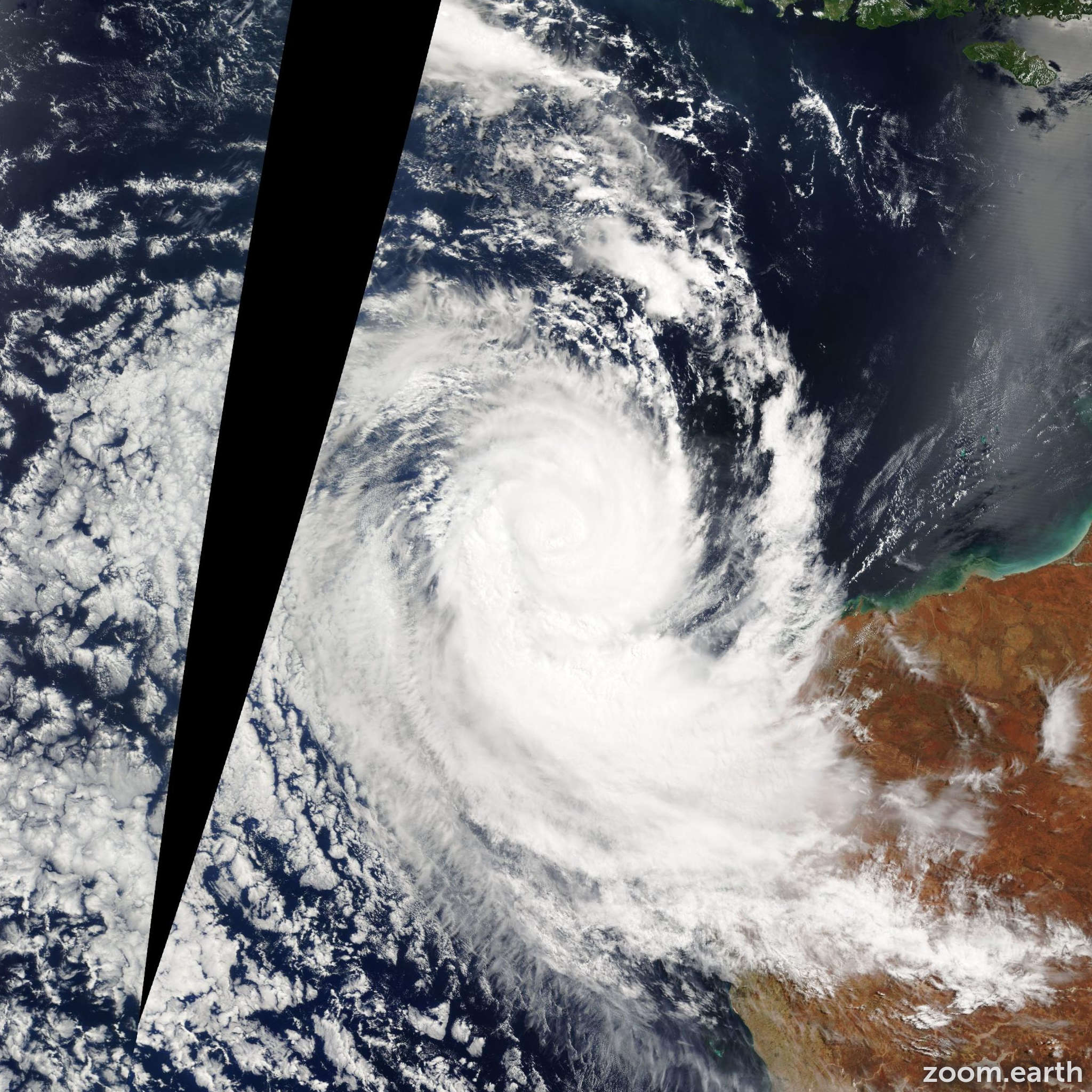 Satellite image of Cyclone Willy 2005