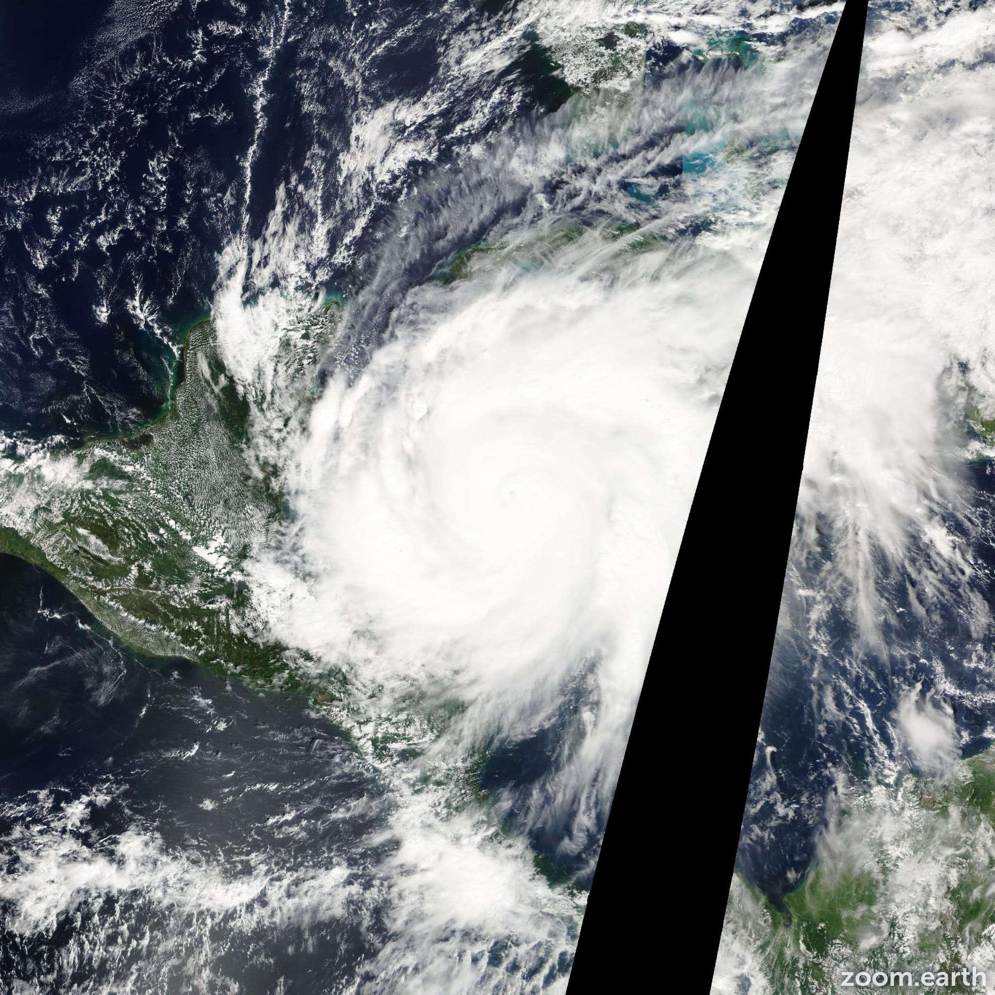 Satellite image of Hurricane Wilma 2005