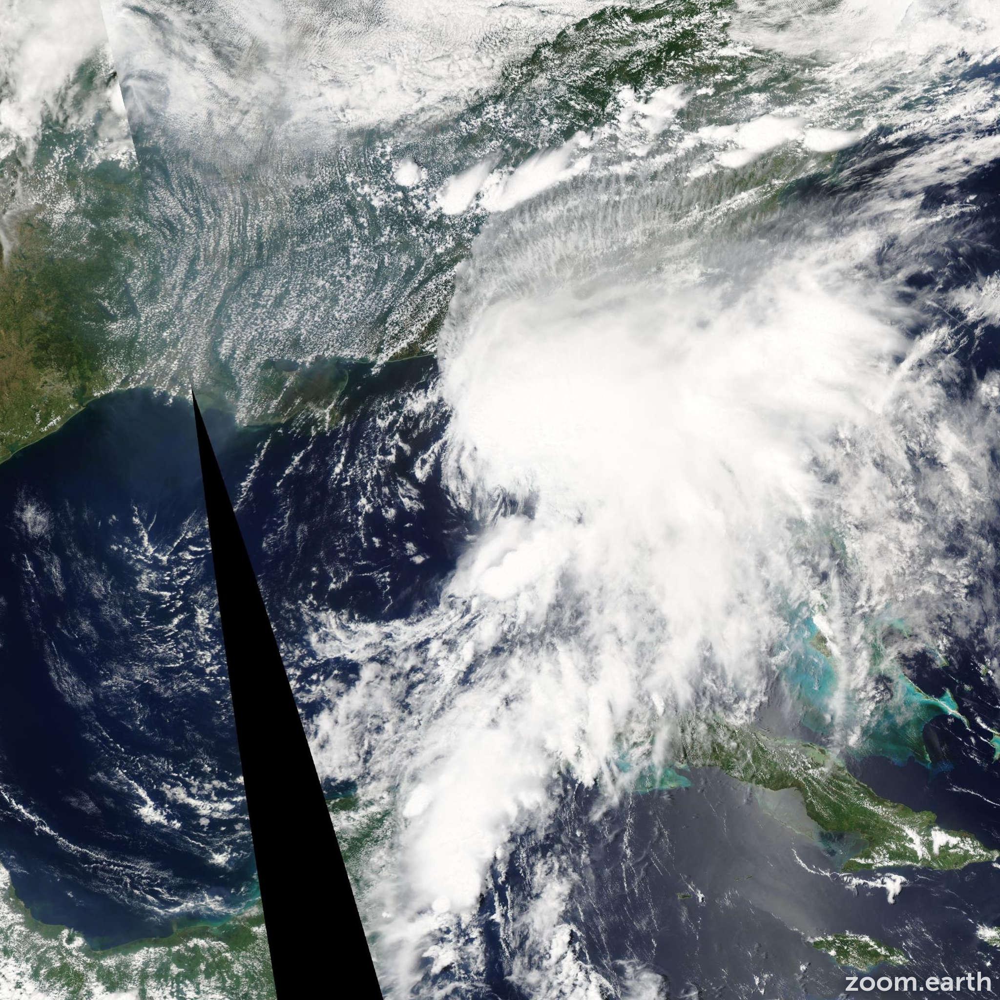 Satellite image of Storm Alberto 2006