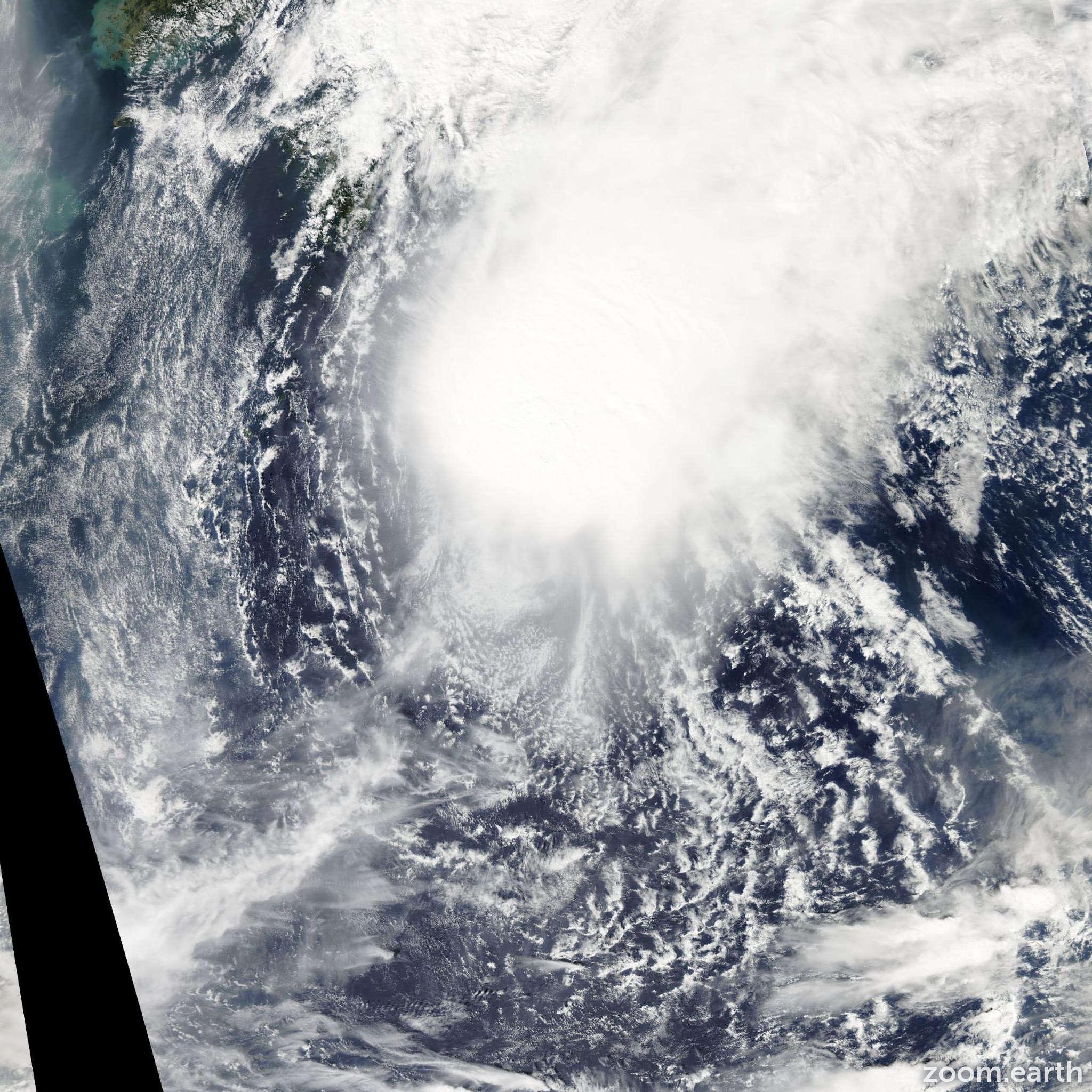 Satellite image of Storm Bebinca 2006