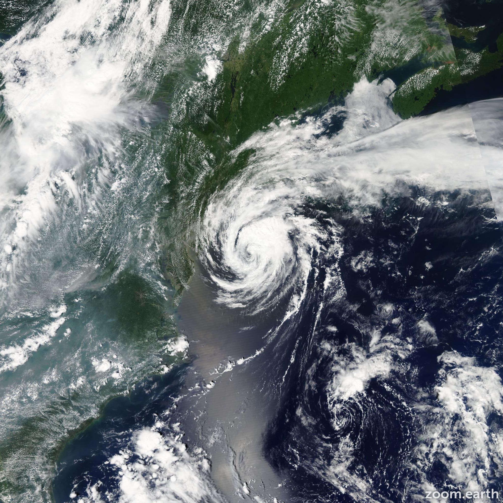 Satellite image of Storm Beryl 2006