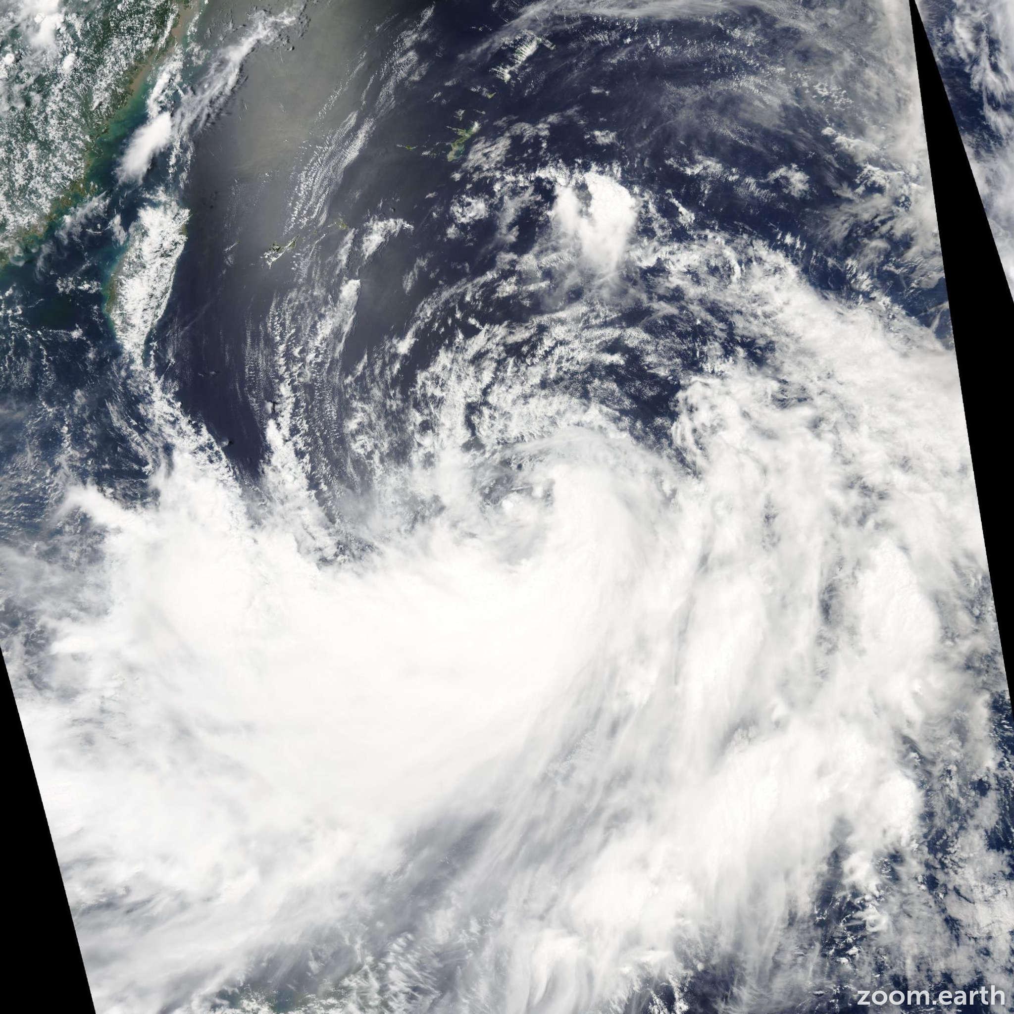 Satellite image of Storm Bilis 2006