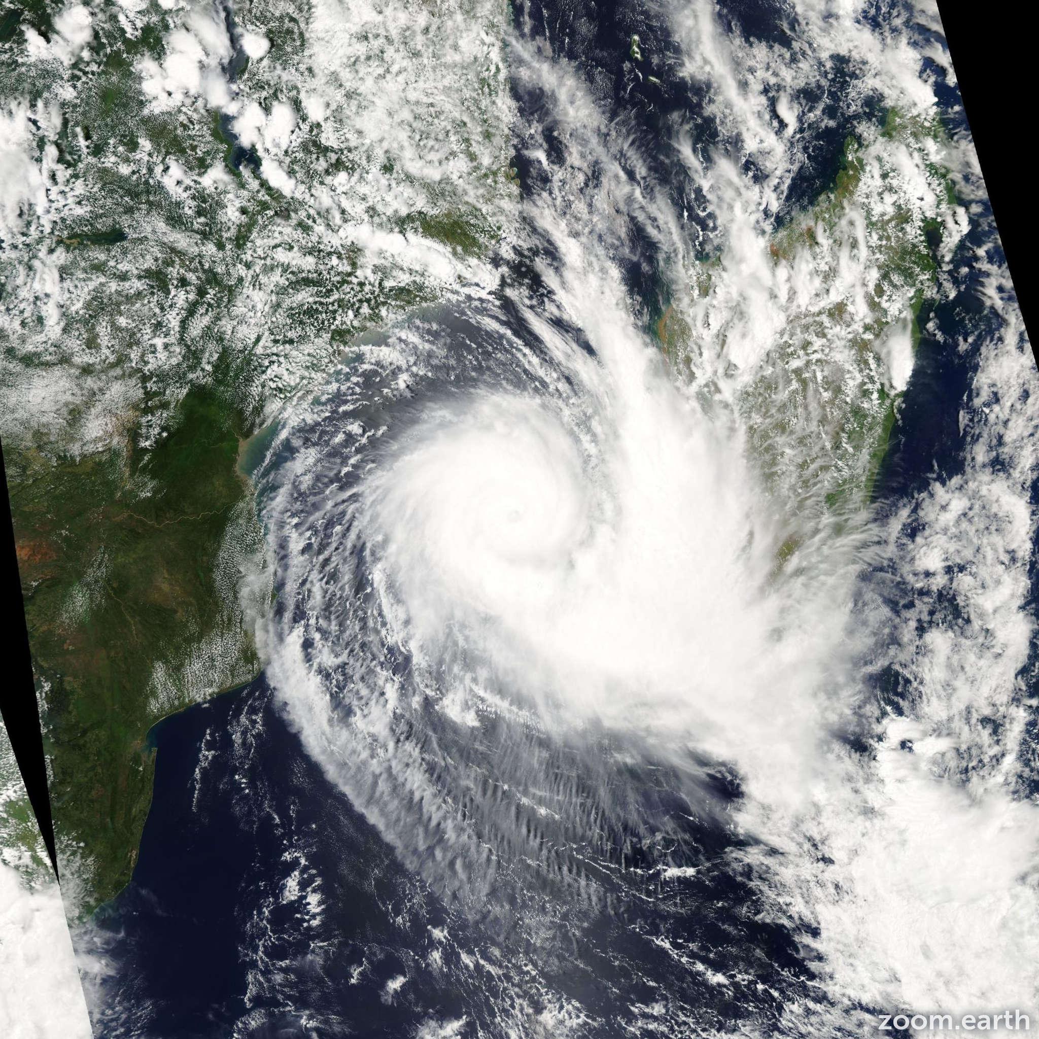 Satellite image of Cyclone Boloetse 2006