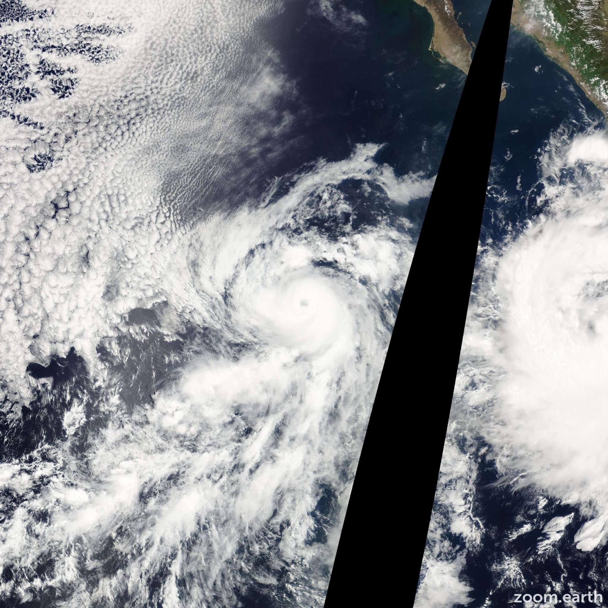 Satellite image of Hurricane Bud 2006