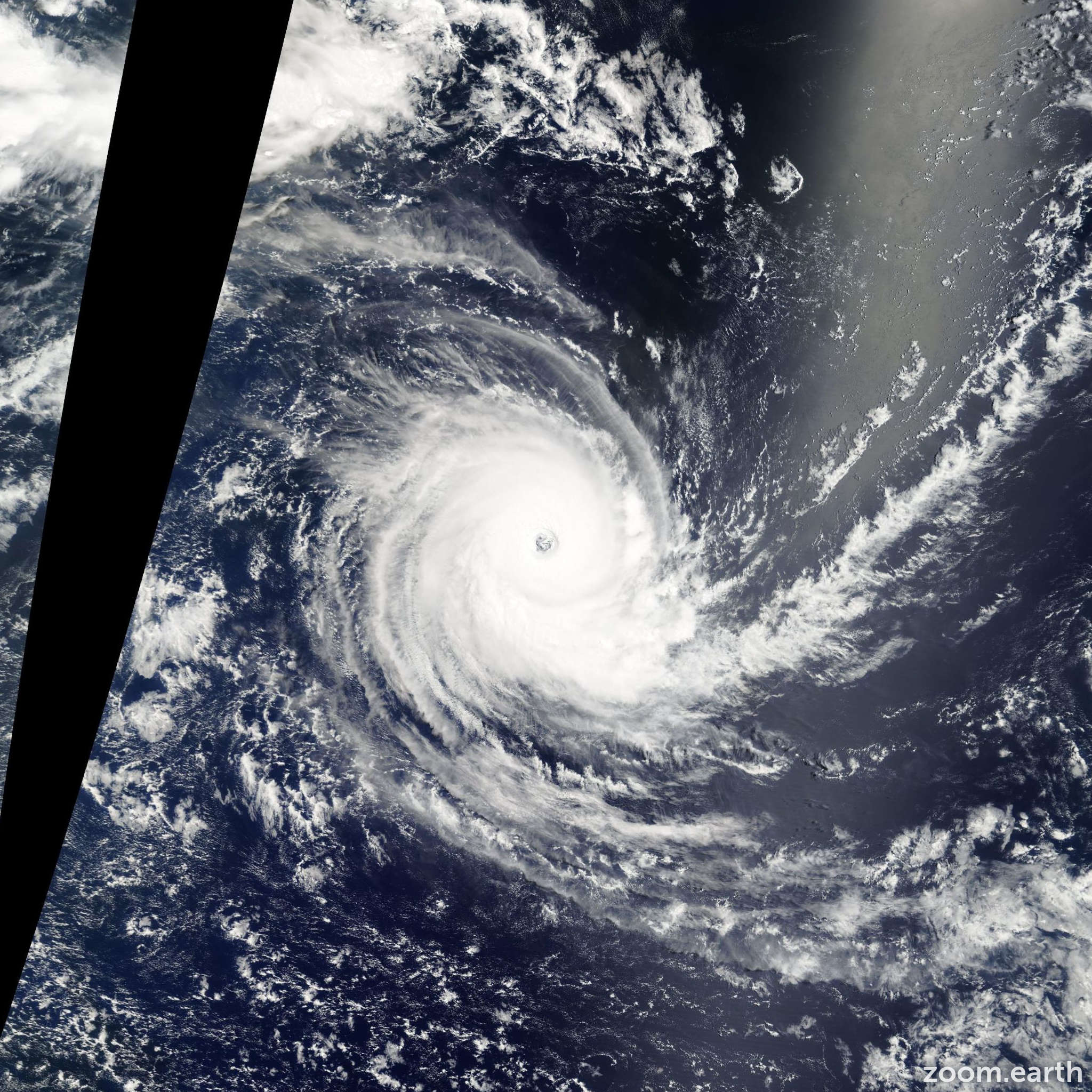 Satellite image of Cyclone Carina 2006