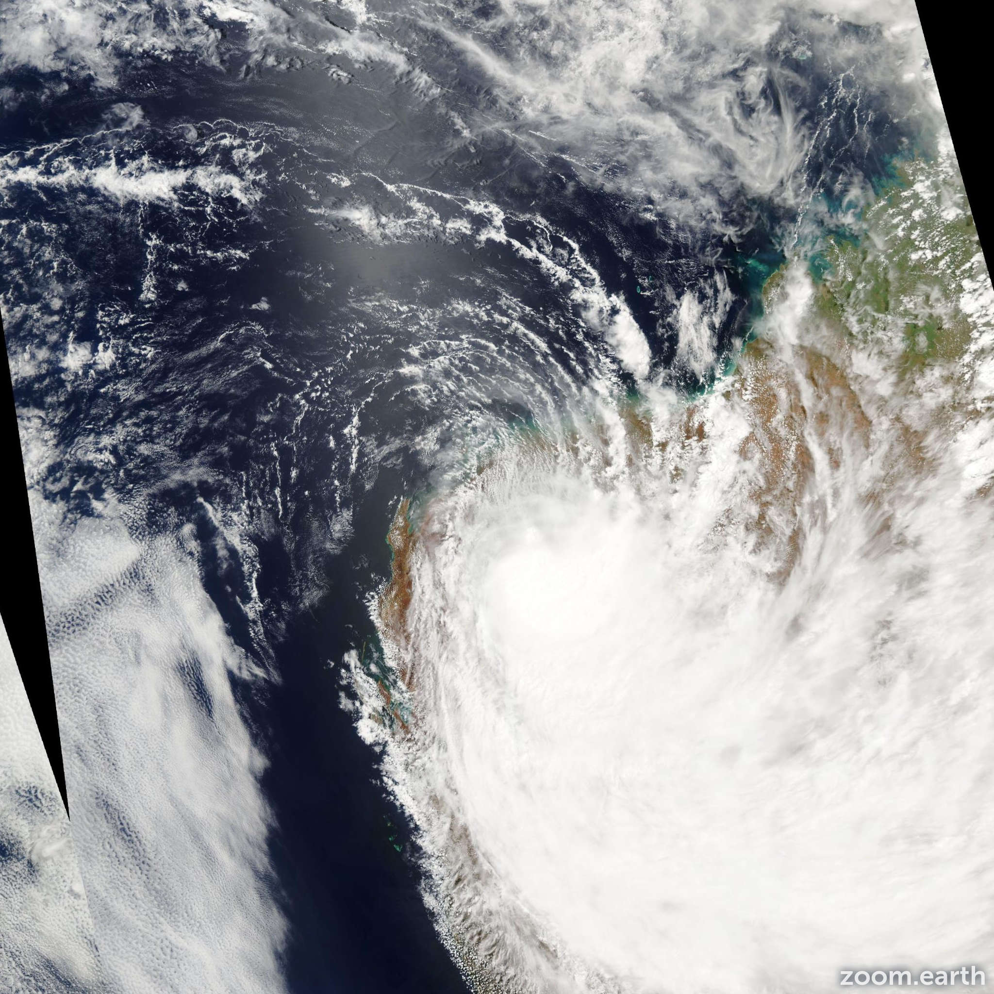 Satellite image of Cyclone Emma 2006