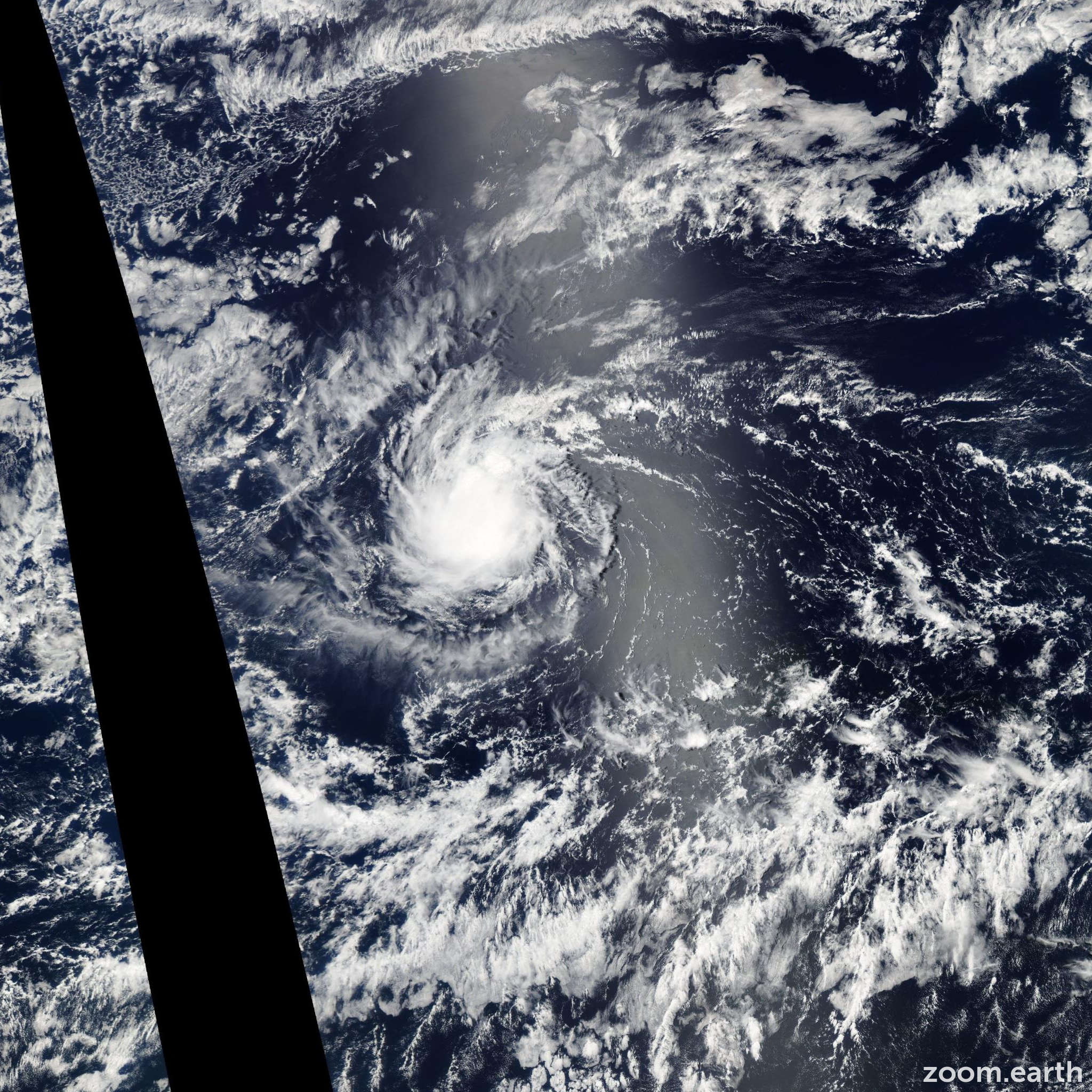 Satellite image of Storm Fabio 2006