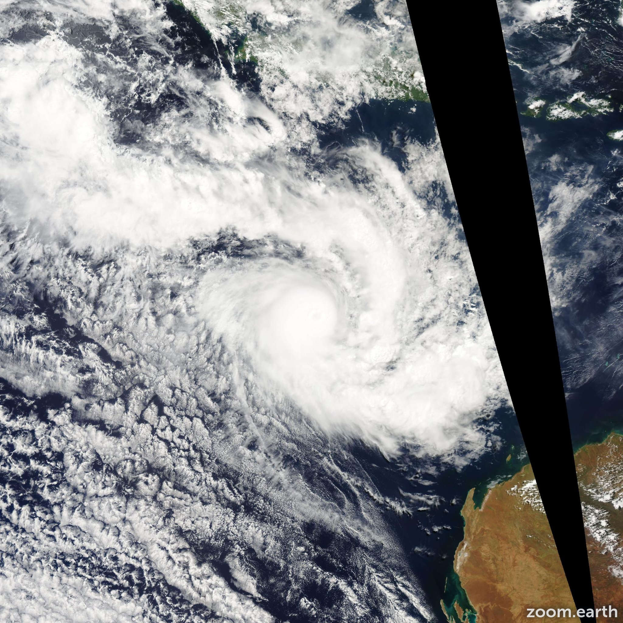 Satellite image of Cyclone Floyd 2006