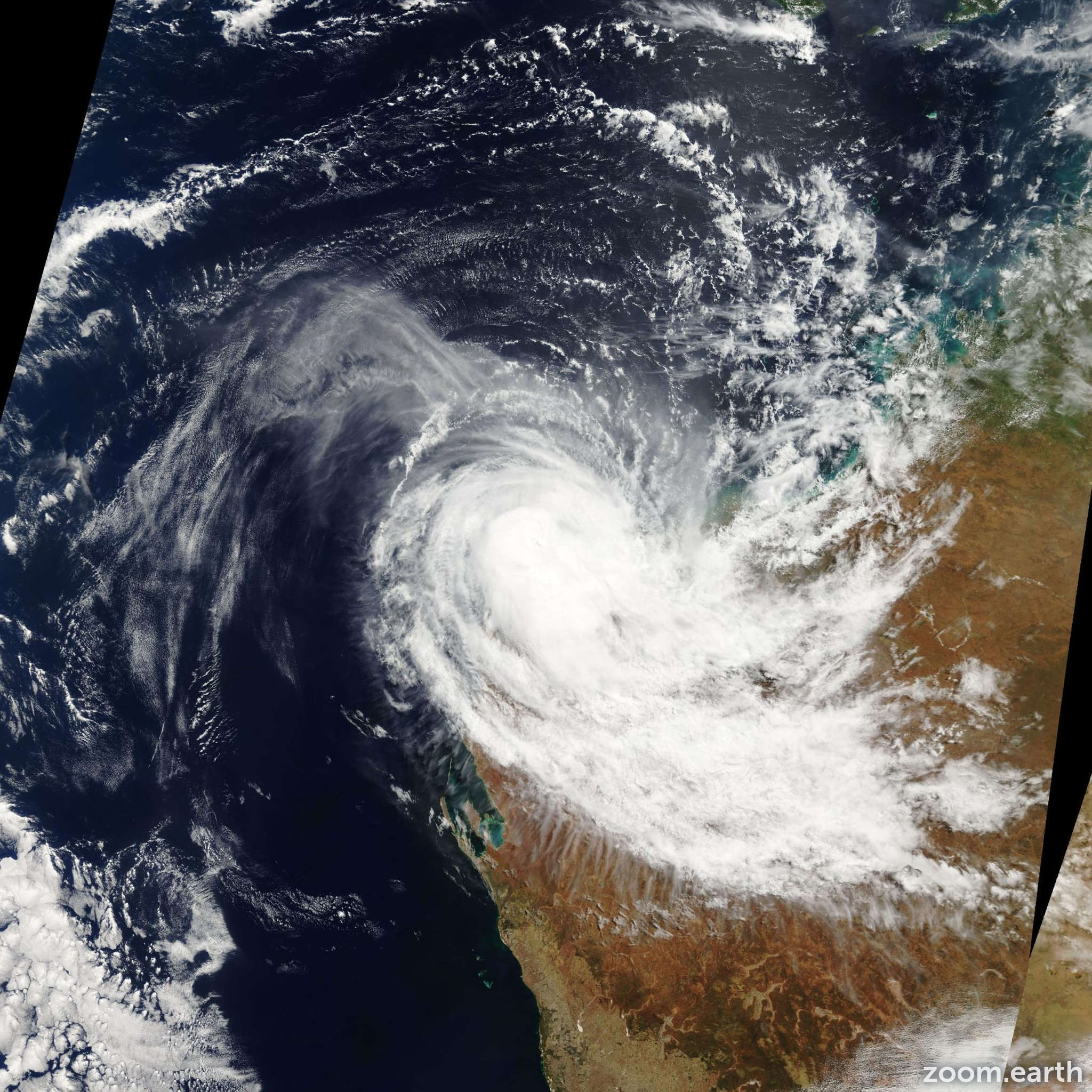 Satellite image of Cyclone Hubert 2006