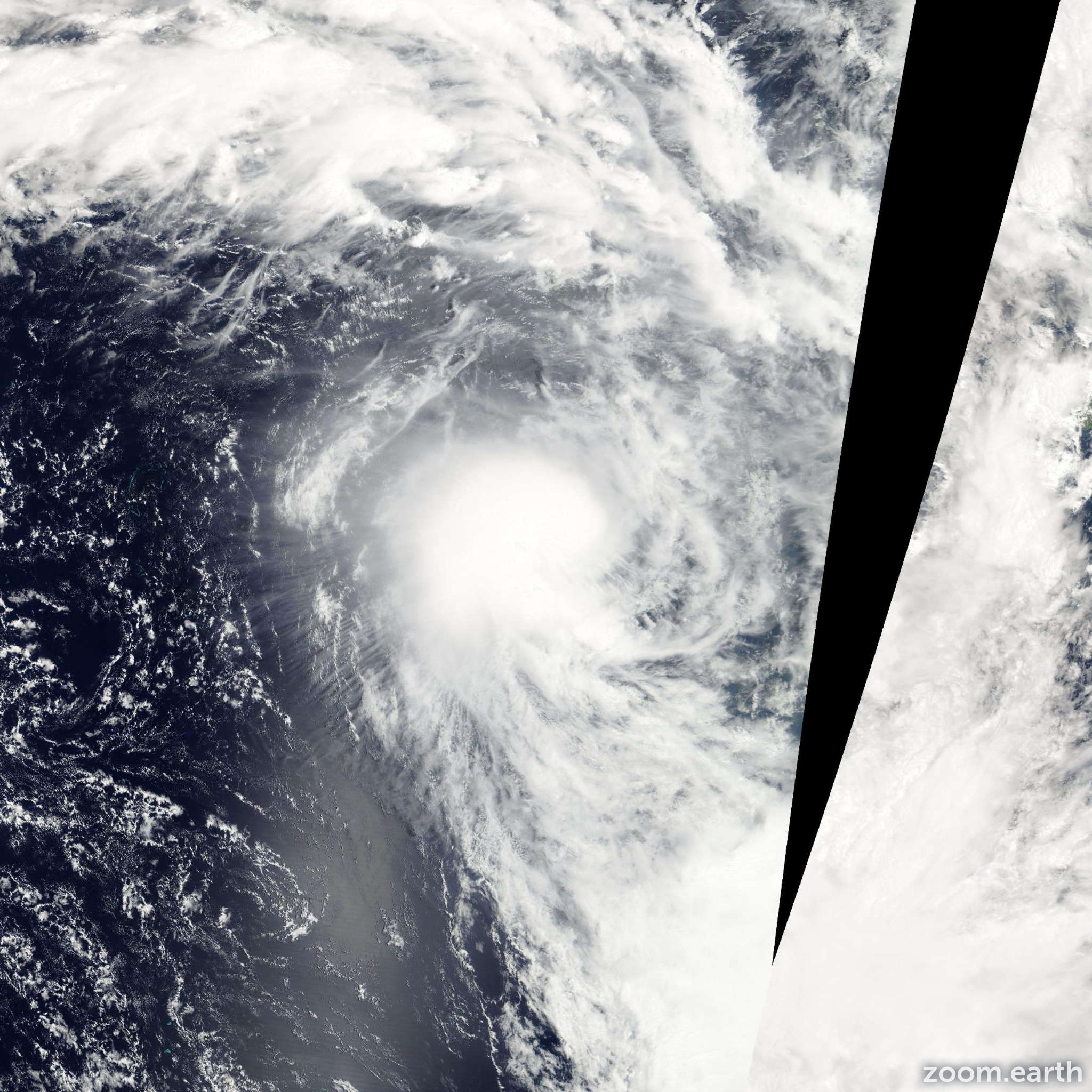 Satellite image of Cyclone Jim 2006