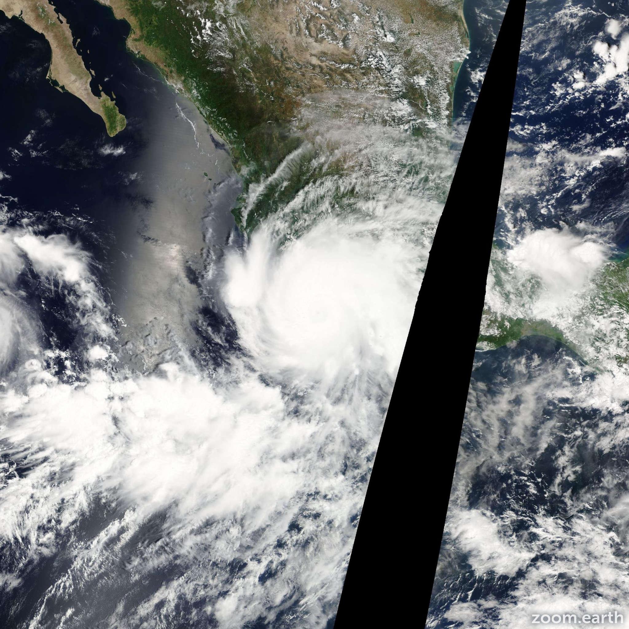 Satellite image of Hurricane John 2006
