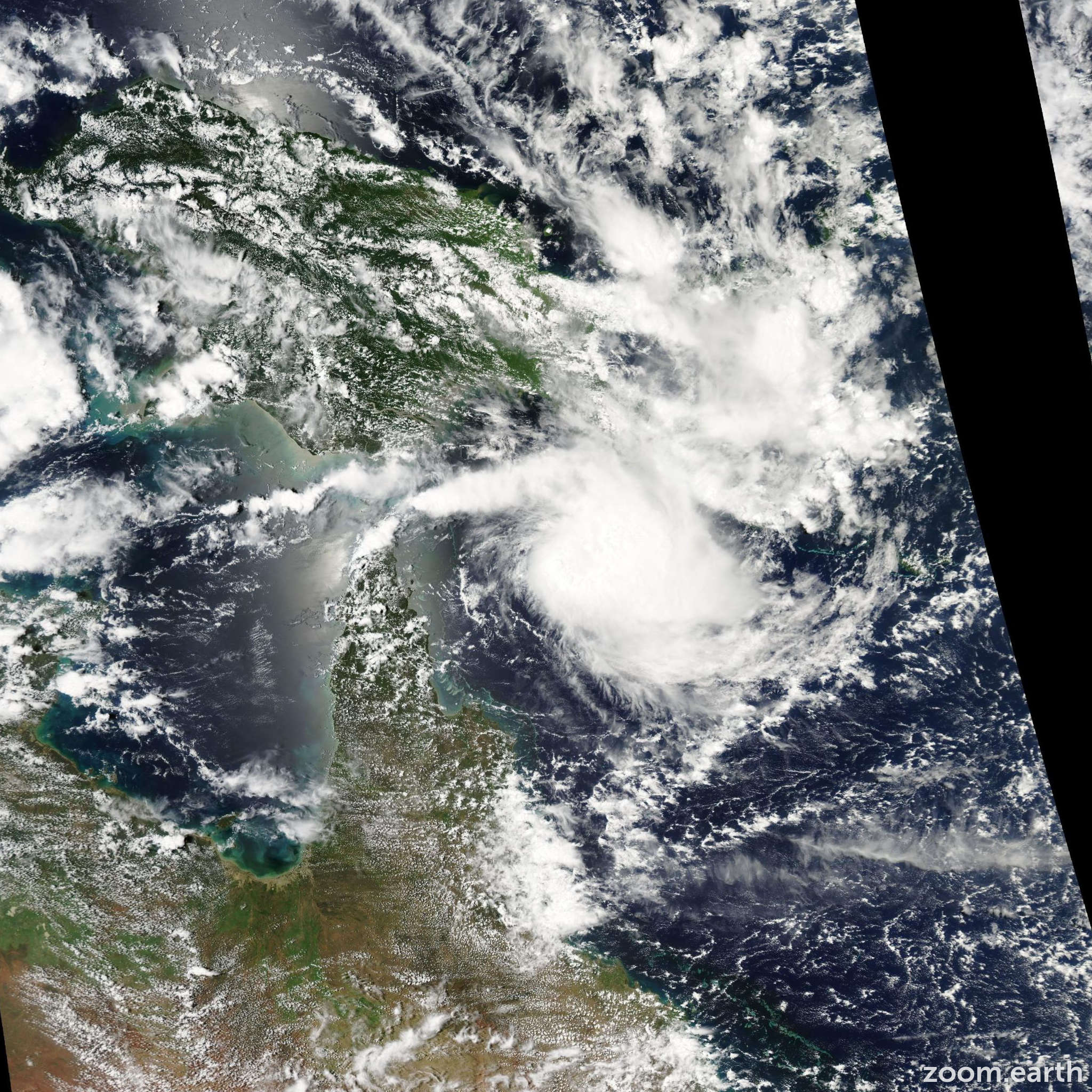 Satellite image of Cyclone Kate 2006