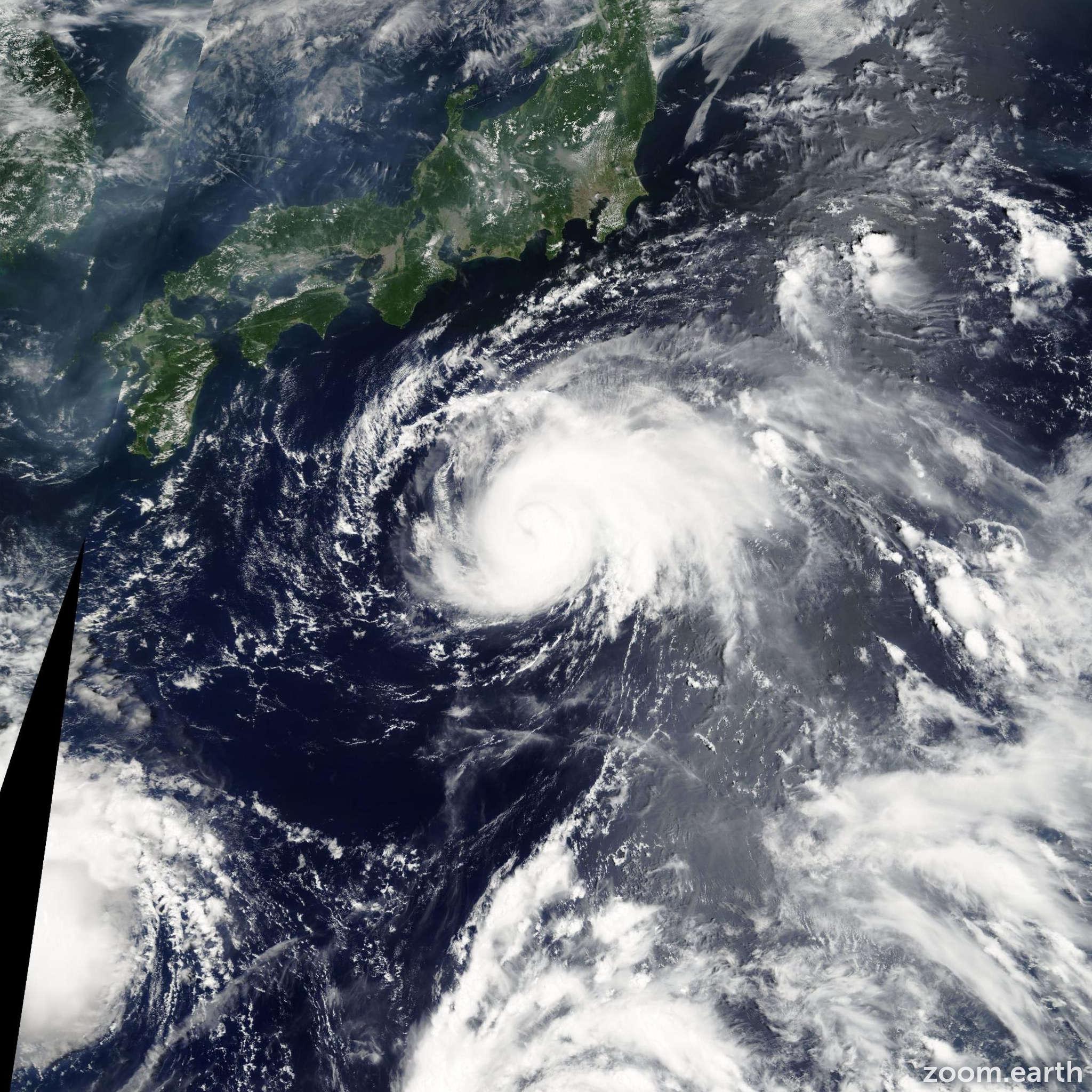 Satellite image of Storm Maria 2006