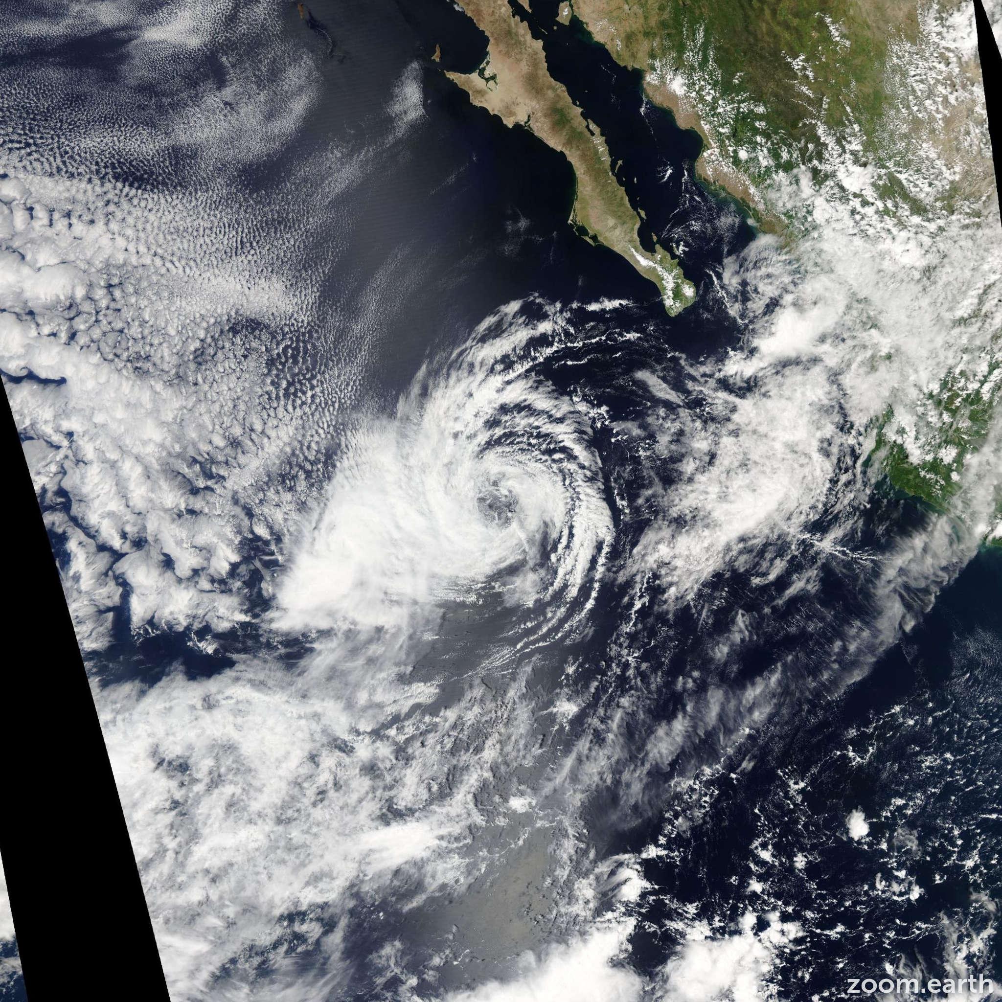 Satellite image of Storm Miriam 2006