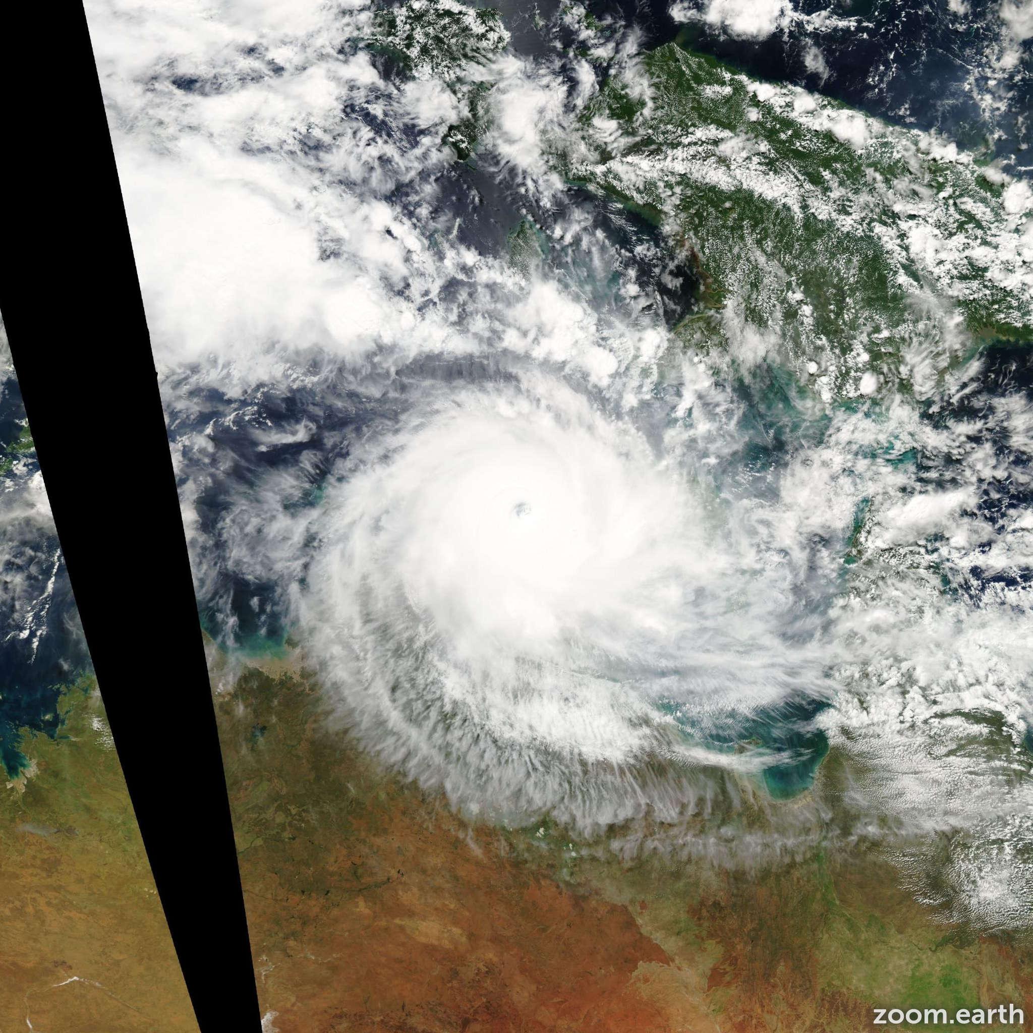 Satellite image of Cyclone Monica 2006