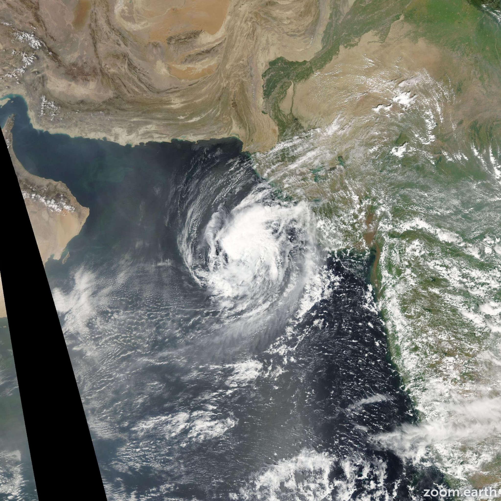 Satellite image of Cyclone Mukda 2006