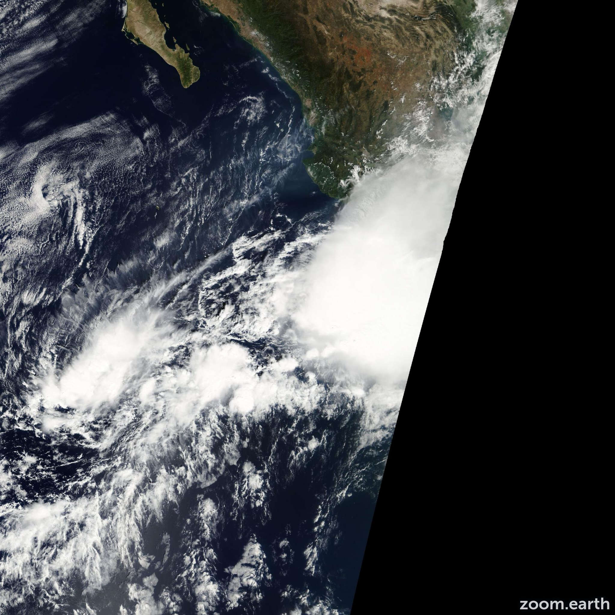 Satellite image of Storm Rosa 2006