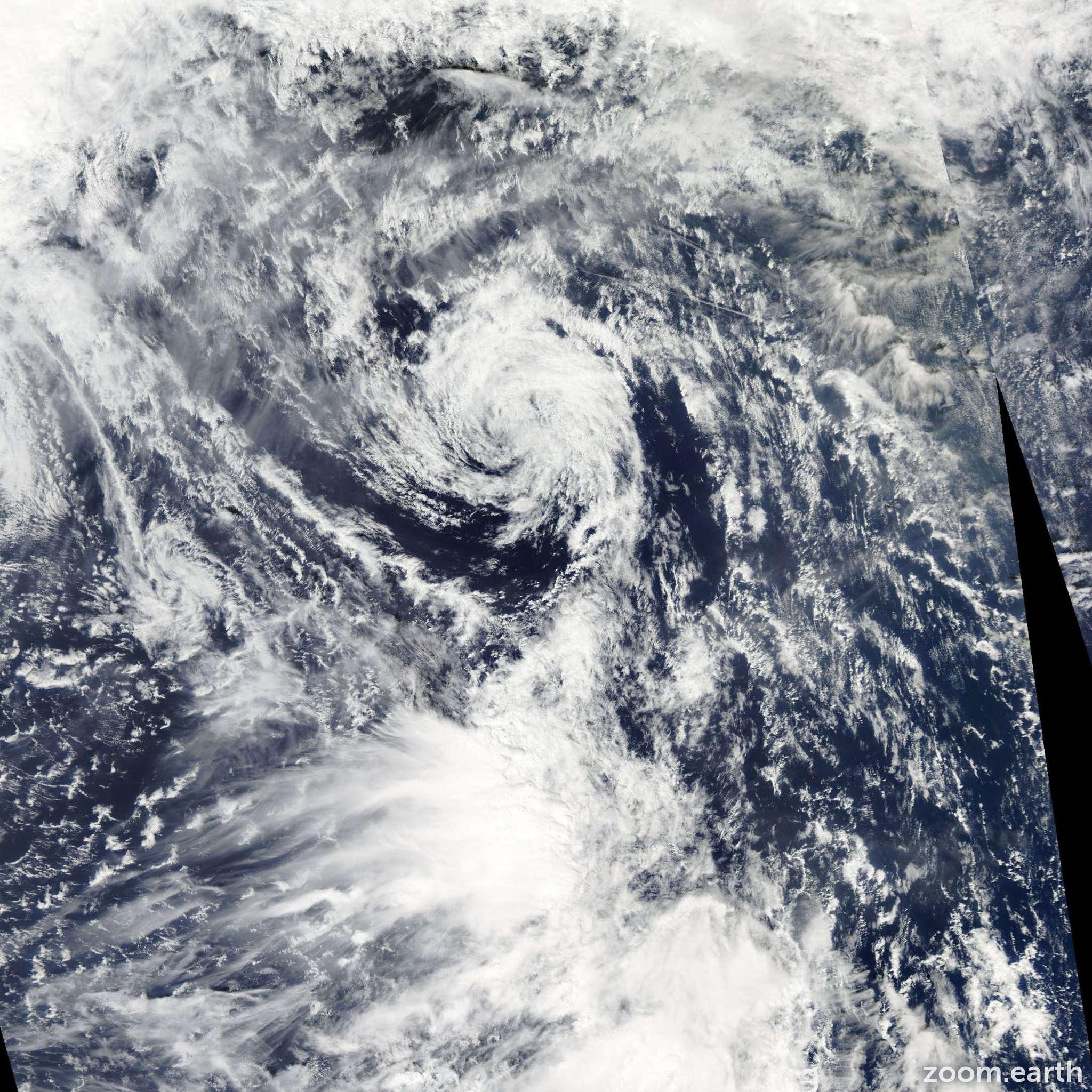 Satellite image of Depression Rumbia 2006