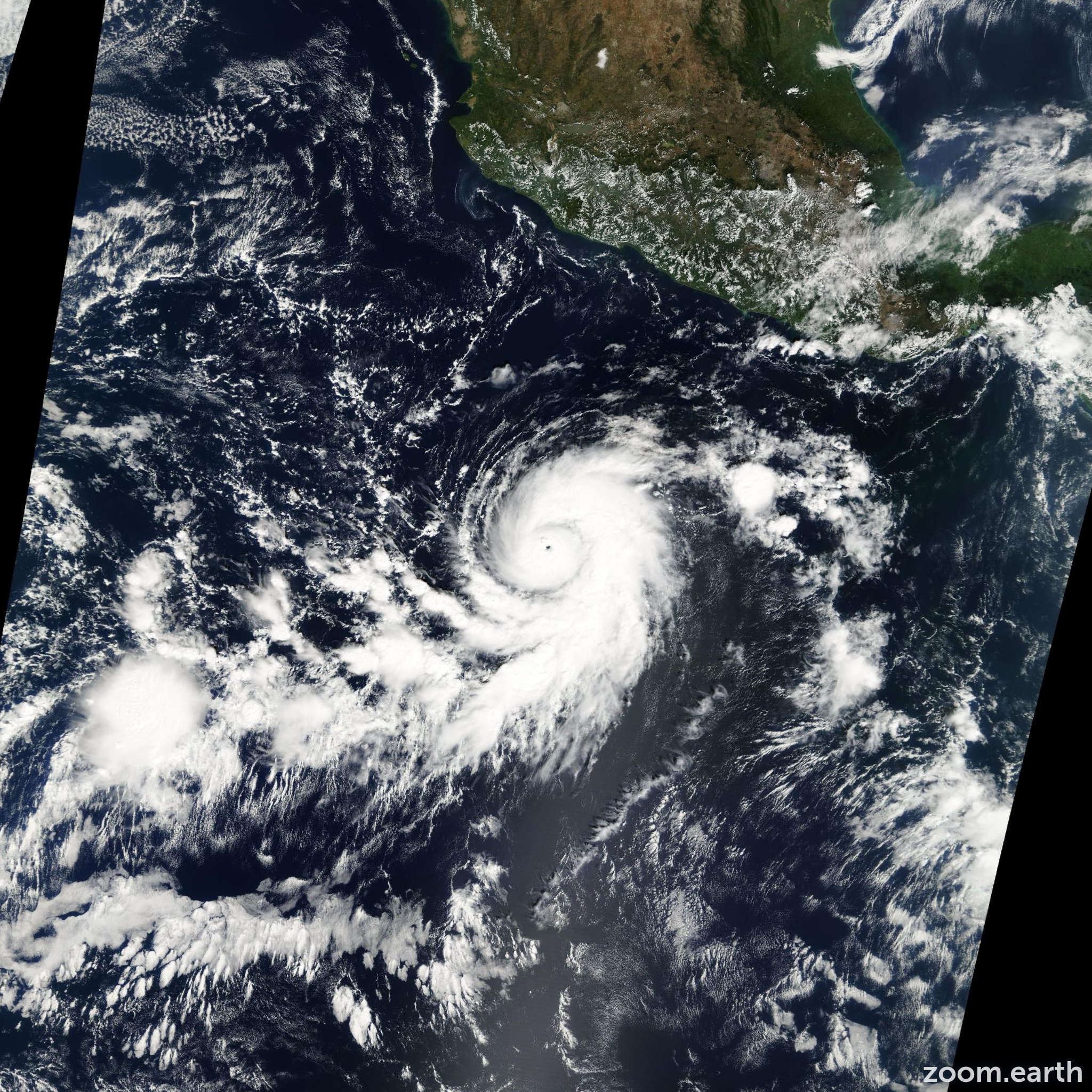 Satellite image of Hurricane Sergio 2006