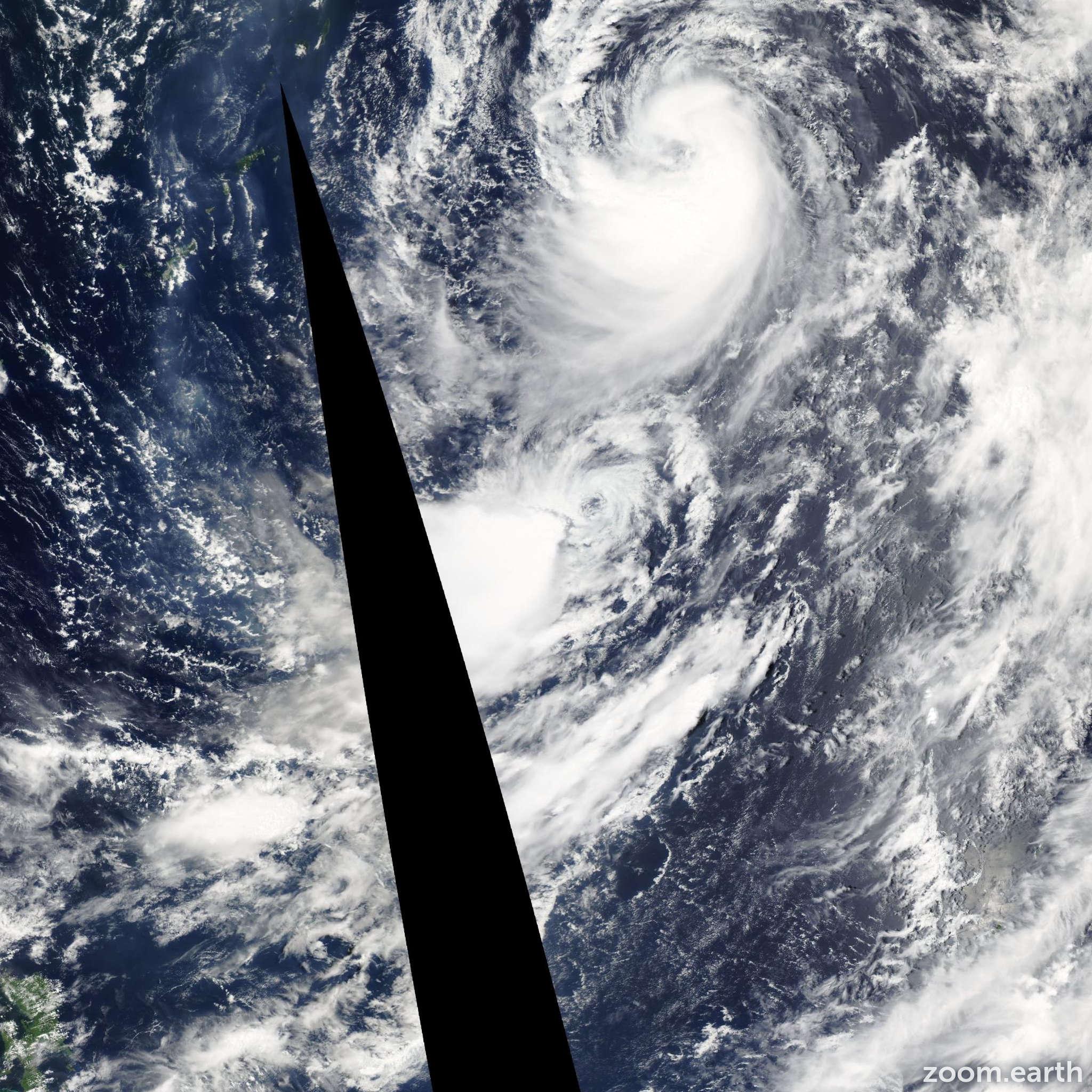 Satellite image of Storm Sonamu 2006