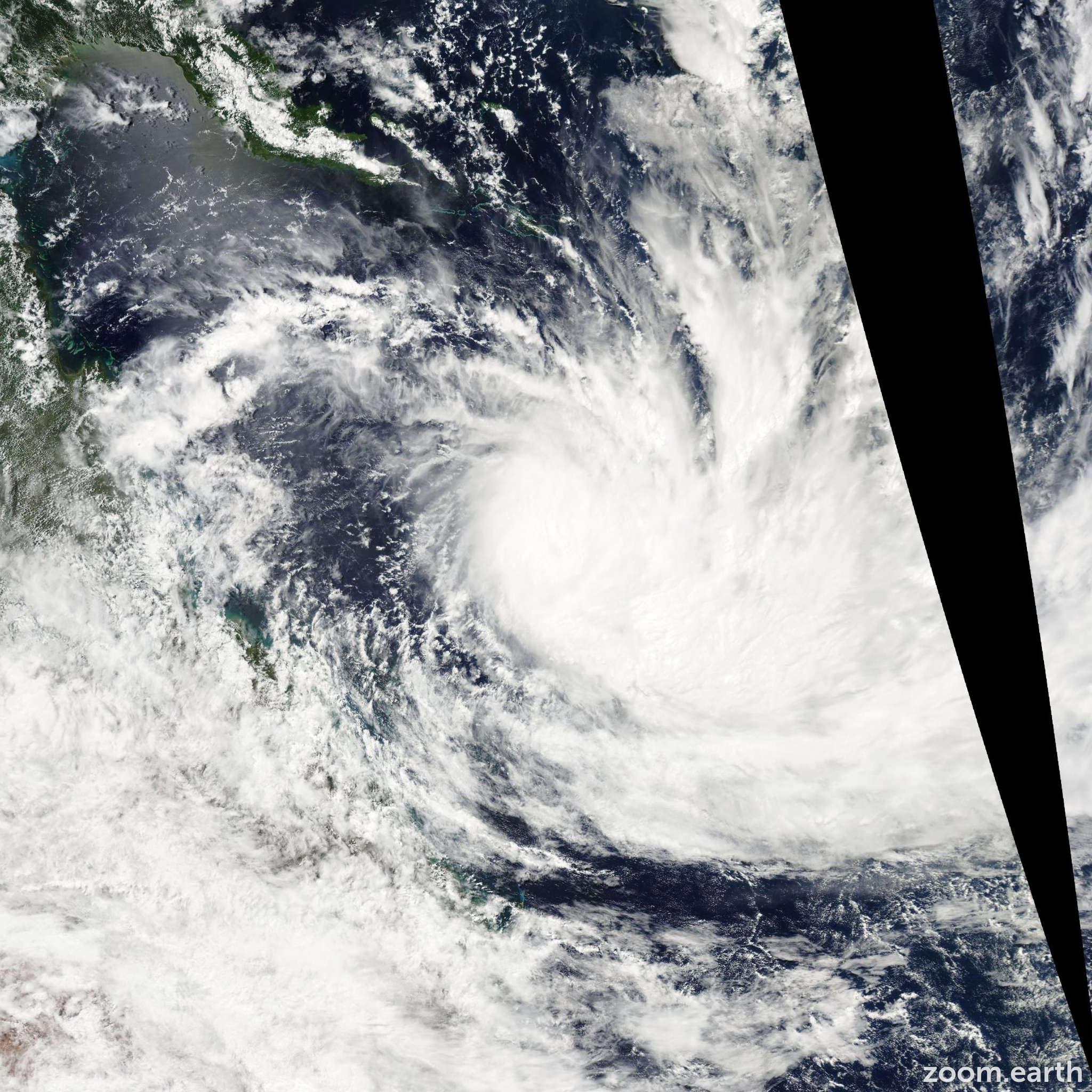 Satellite image of Cyclone Wati 2006