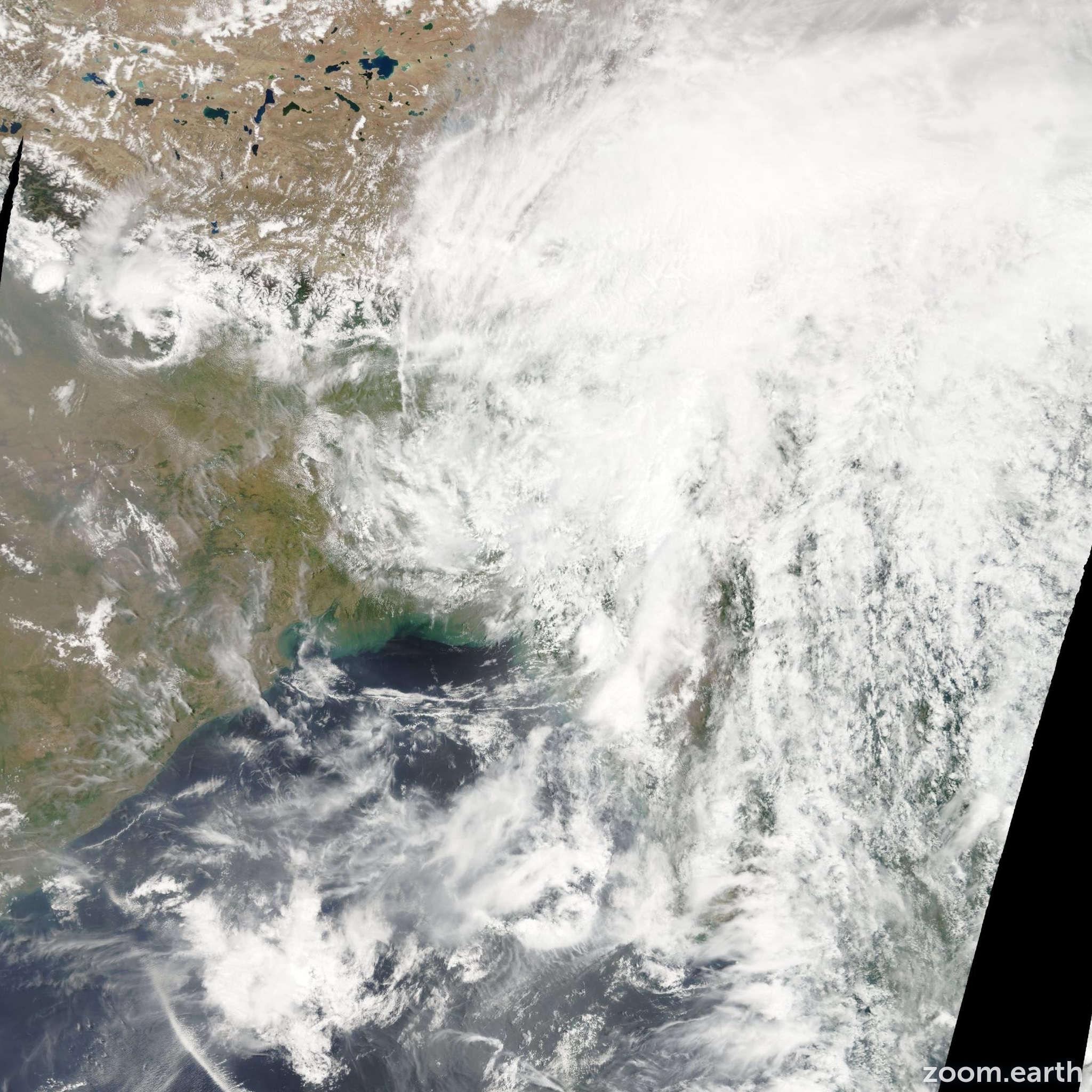 Satellite image of Cyclone Akash 2007