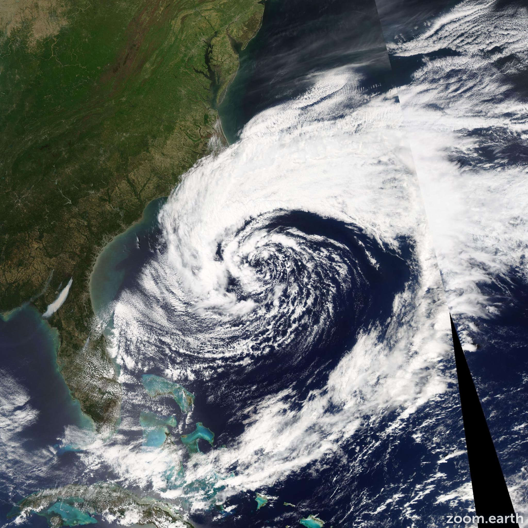 Satellite image of Storm Andrea 2007