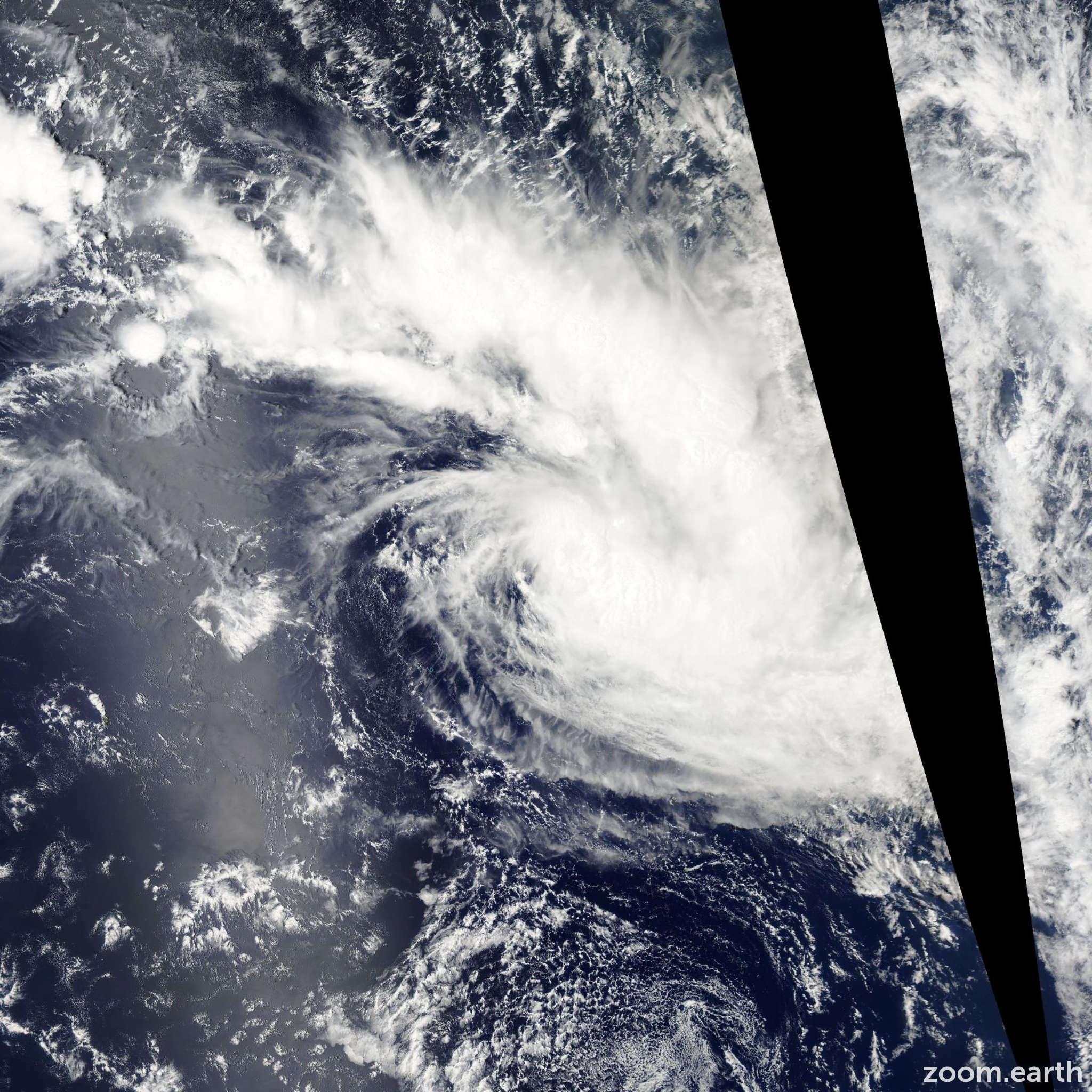 Satellite image of Cyclone Arthur 2007