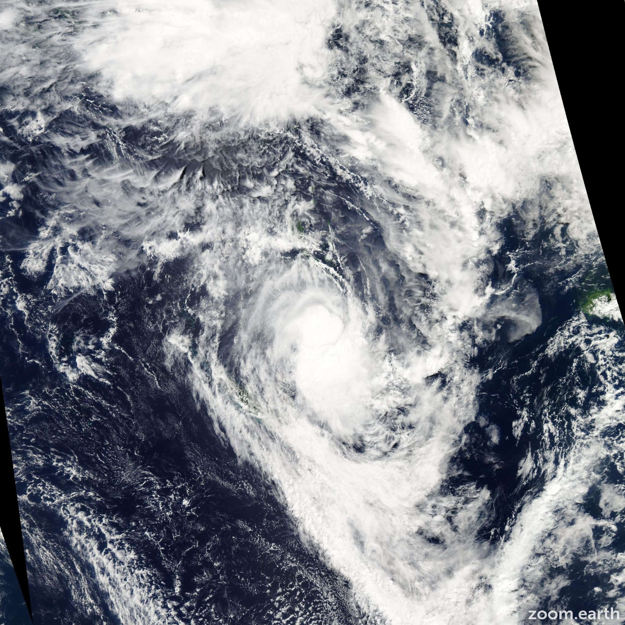 Satellite image of Cyclone Becky 2007