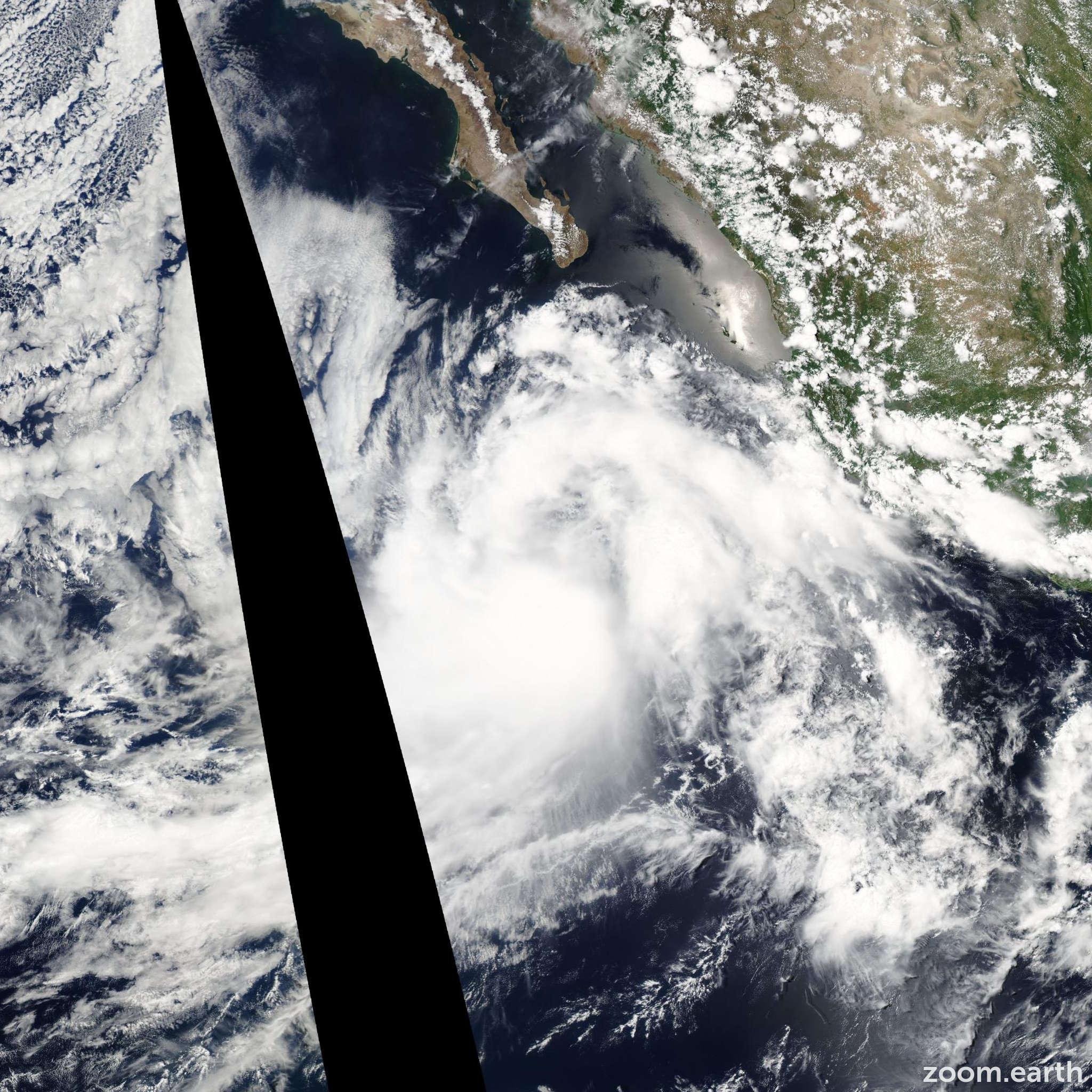 Satellite image of Storm Dalila 2007