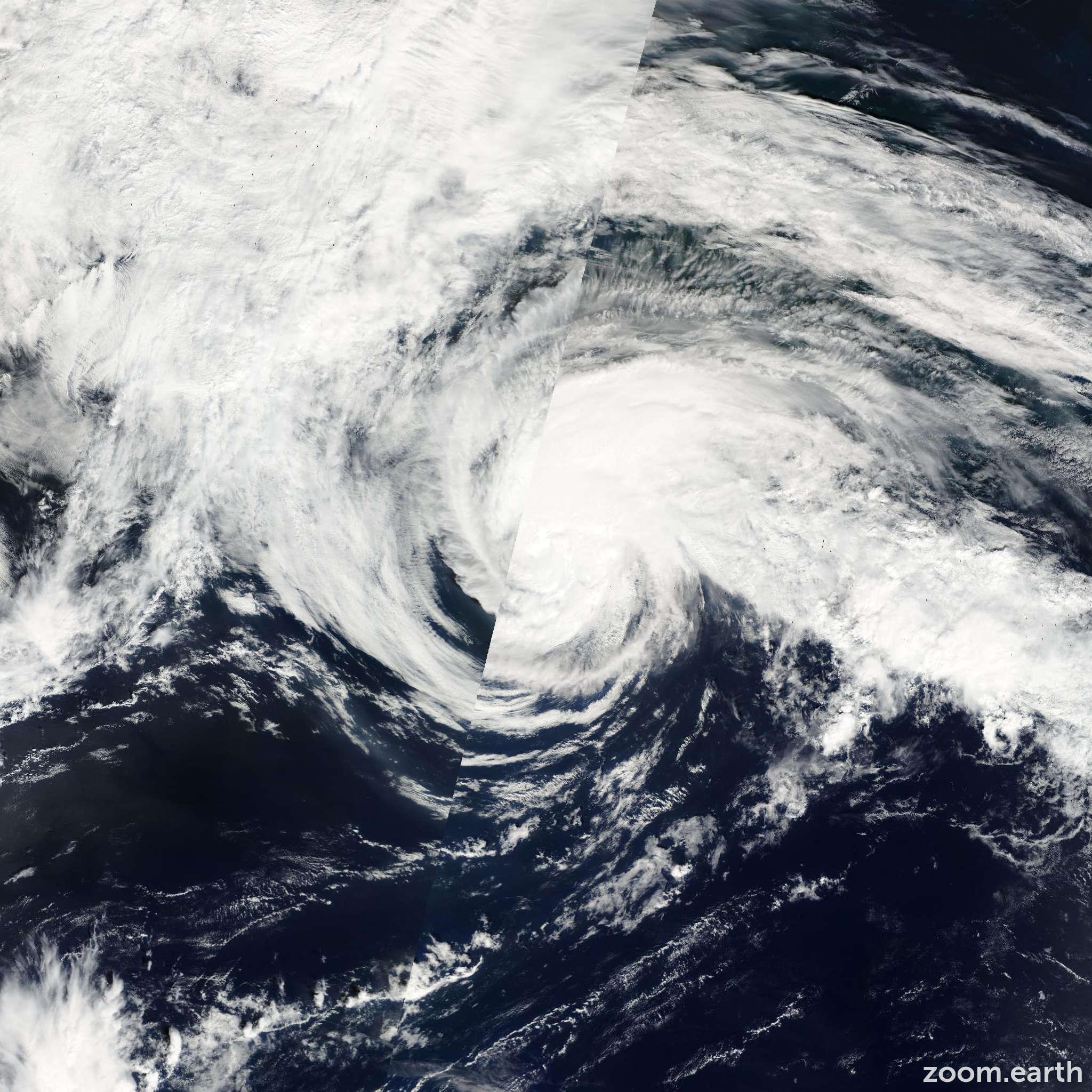 Satellite image of Storm Danas 2007