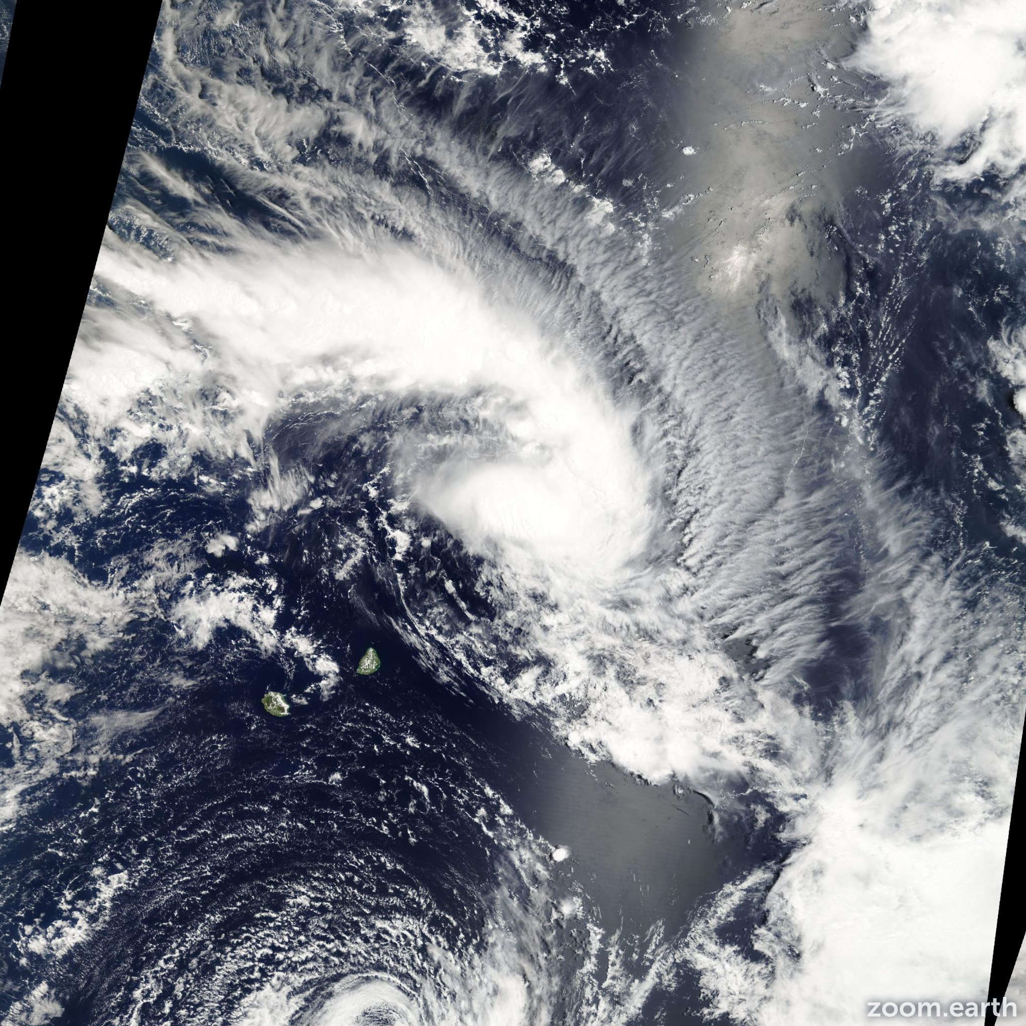 Satellite image of Storm Enok 2007