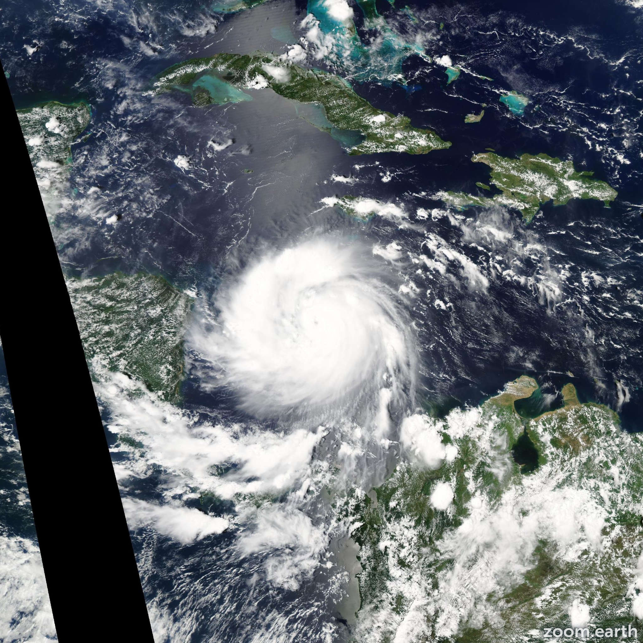 Satellite image of Hurricane Felix 2007