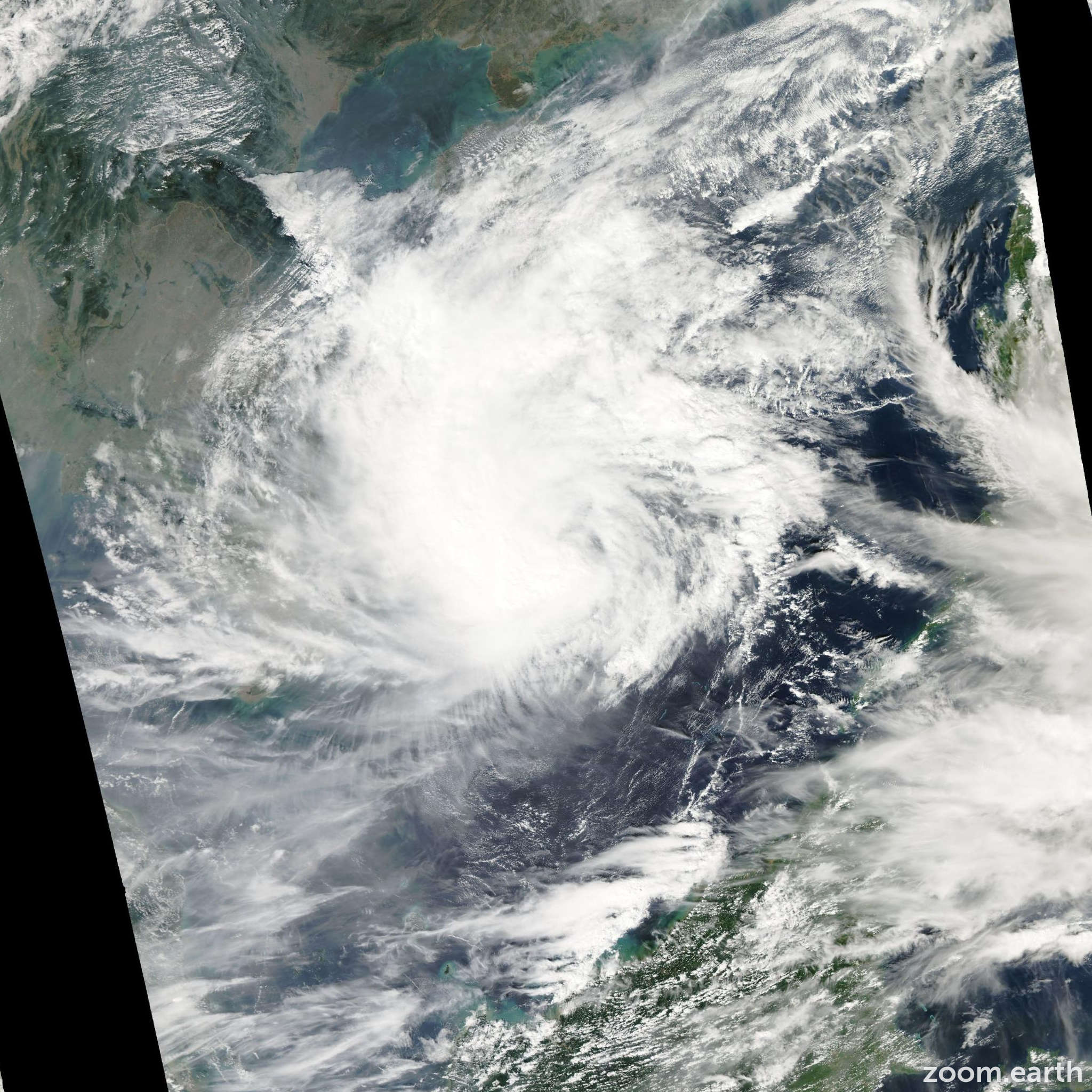 Satellite image of Typhoon Hagibis 2007