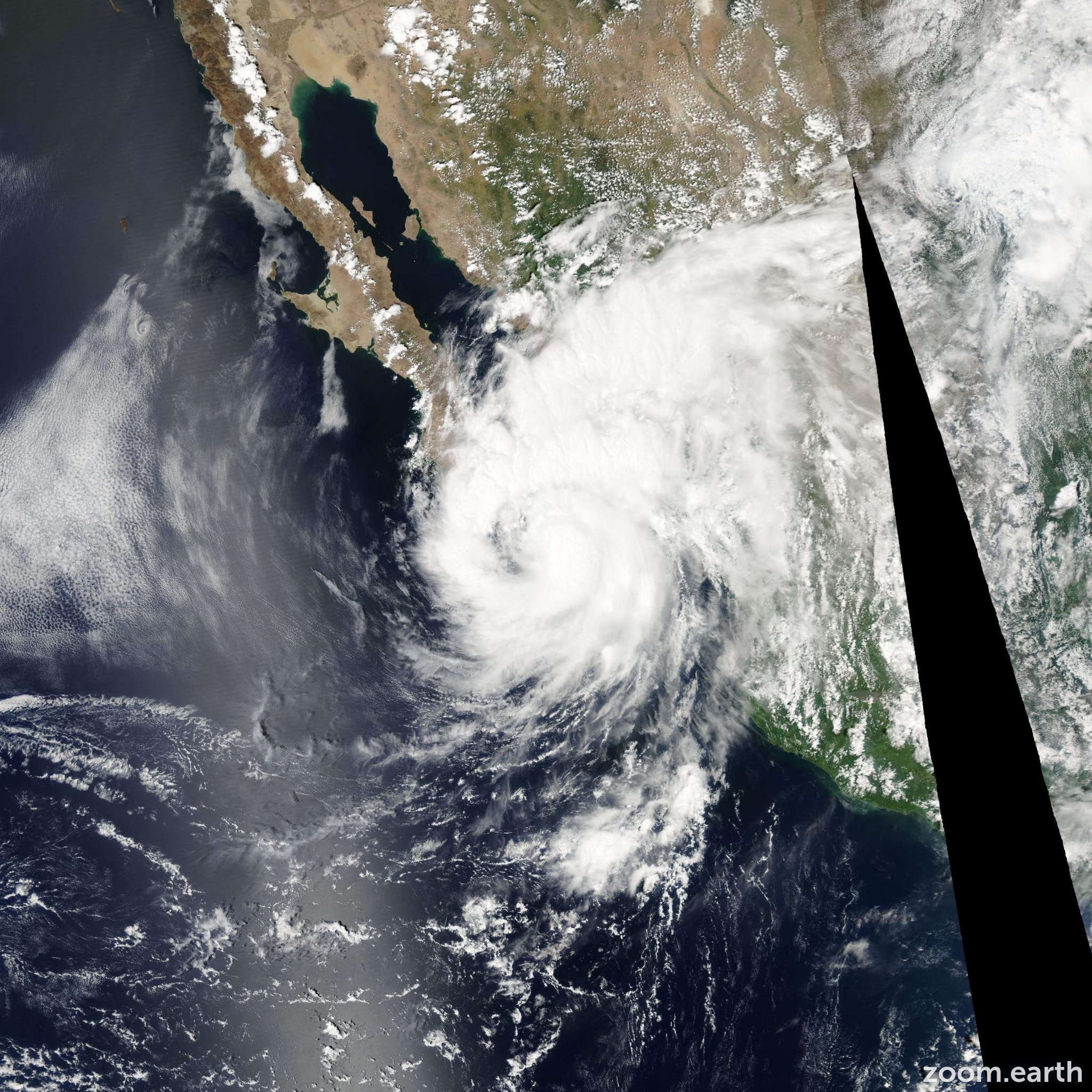 Satellite image of Hurricane Henriette 2007