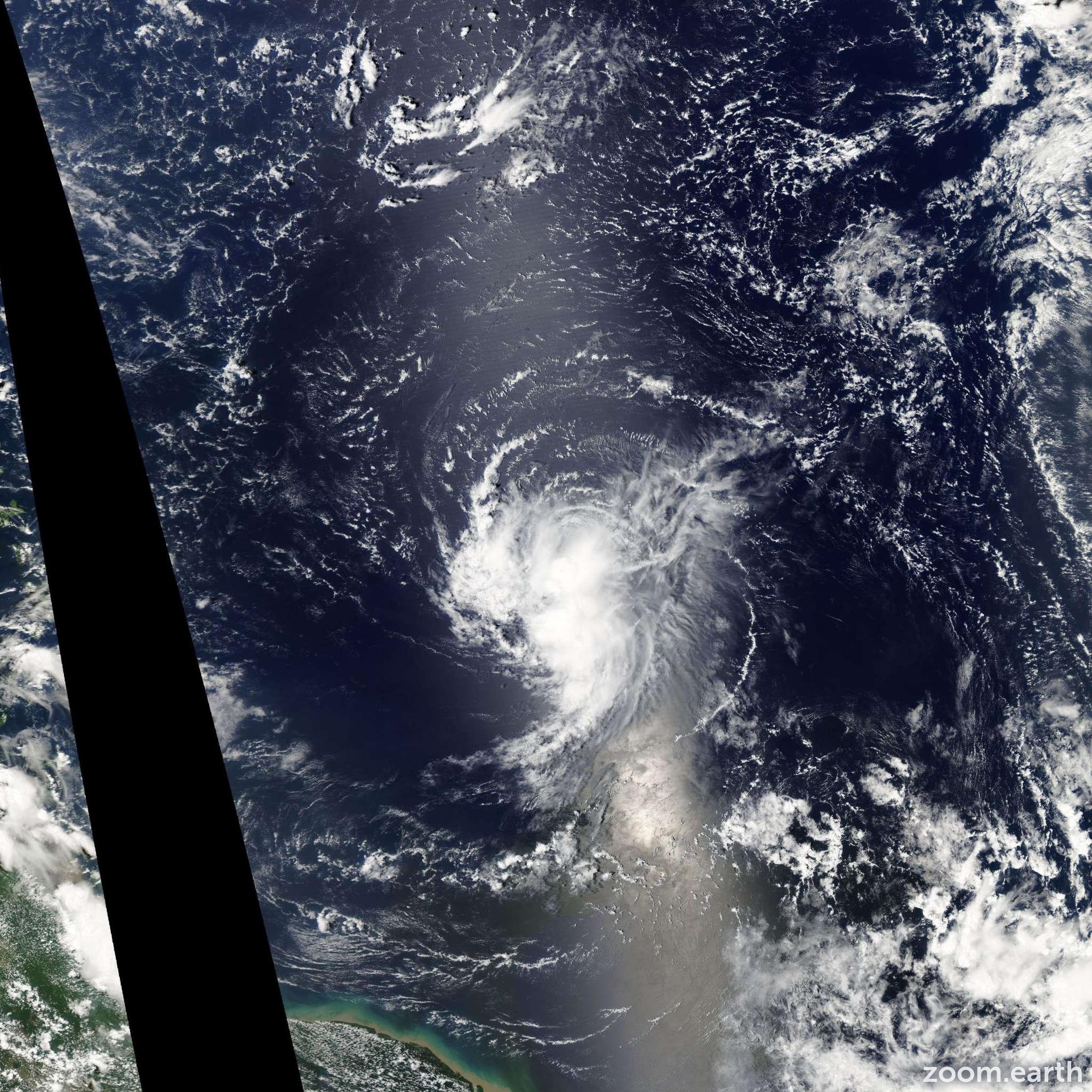 Satellite image of Storm Ingrid 2007